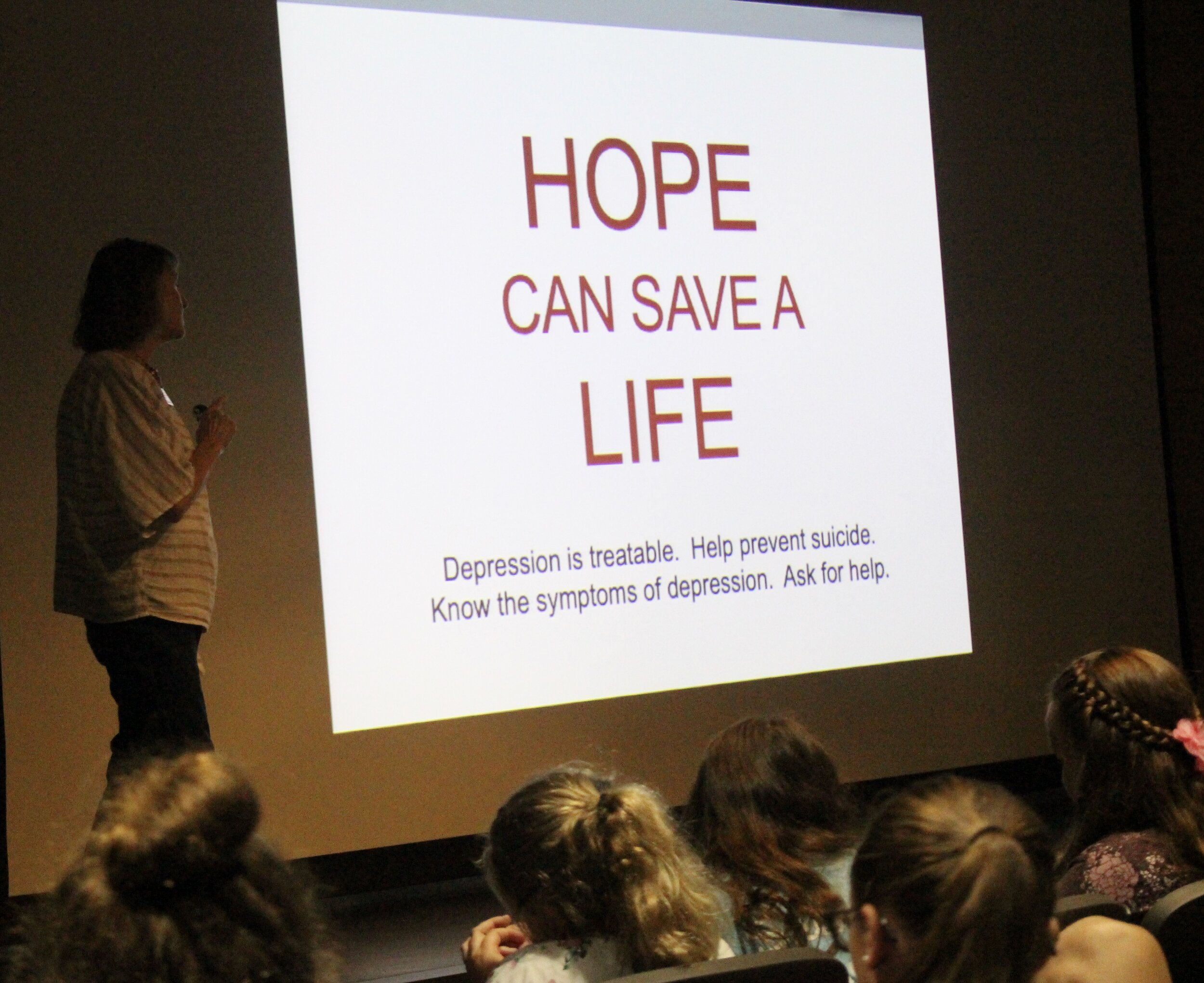 "Marana stresses how ""hope"" can save a life."
