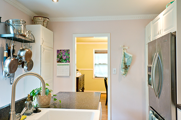 Pink and Gray Kitchen
