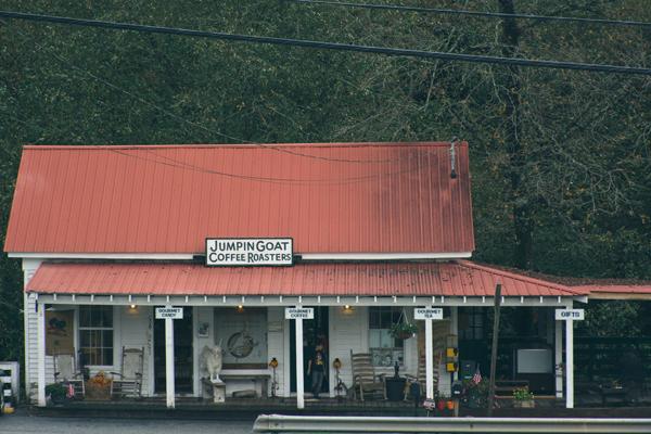 portrait of a coffee shop - Jumpin Goat Coffee Roasters, Helen, GA