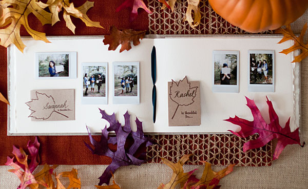 Blue Sky Paper's Artisan Album turned Thanksgiving Thankful Guest Book