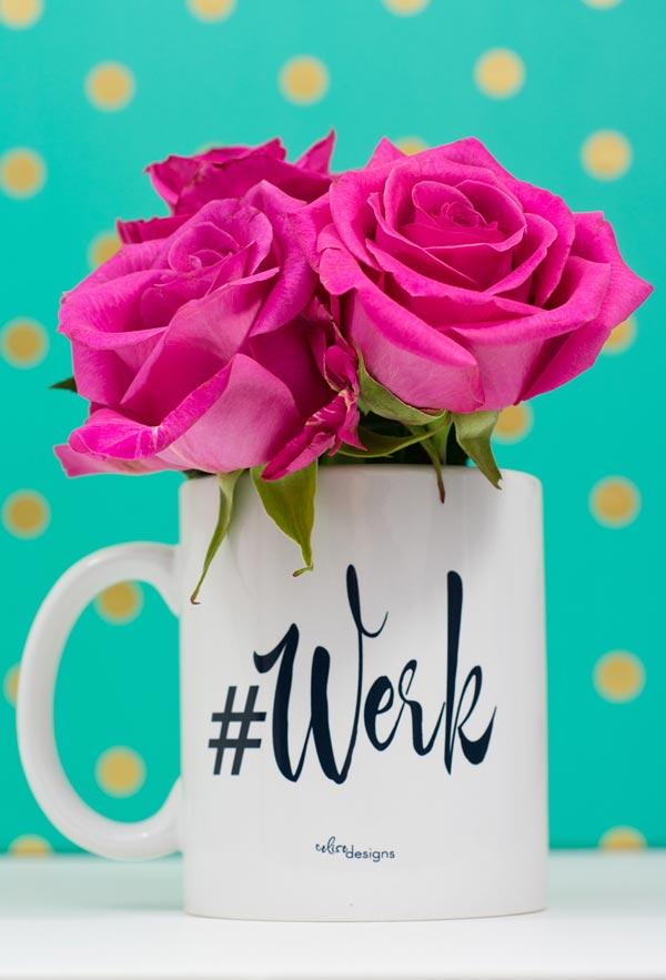 #Werk Coffee Mug by Celise Designs // Photography by Christinaelyse.com