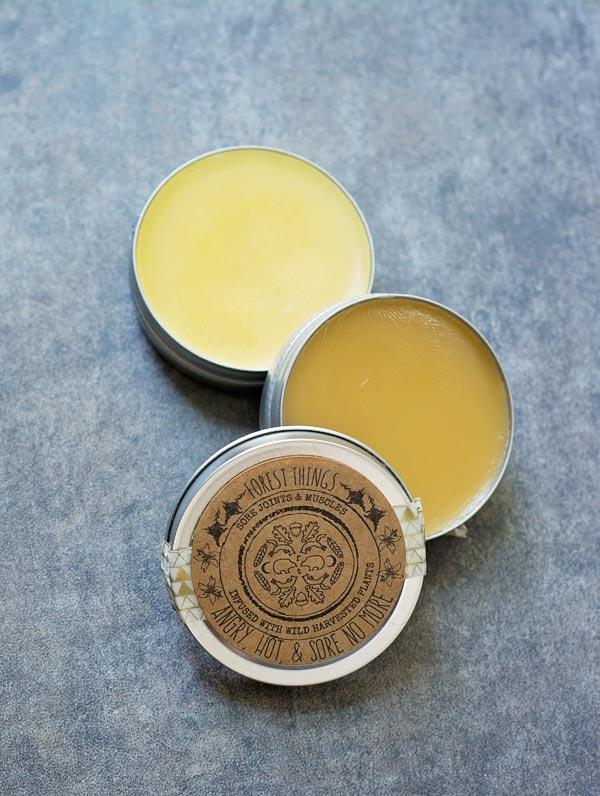 Angry, Hot & Sore No More - sore joints and muscles salve infused with wild harvested plants - Forest Things