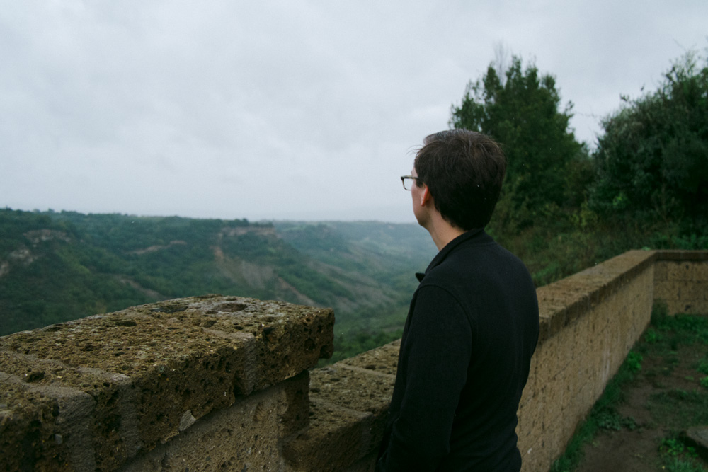 Misty views from Civita di Bagnoregio, Italy