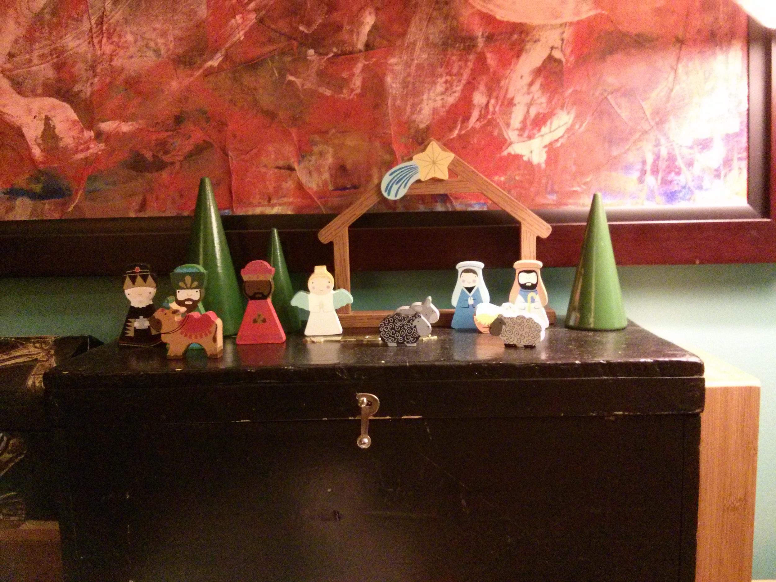 Crèche de Noël, nouveauté de 2013, en bois.
