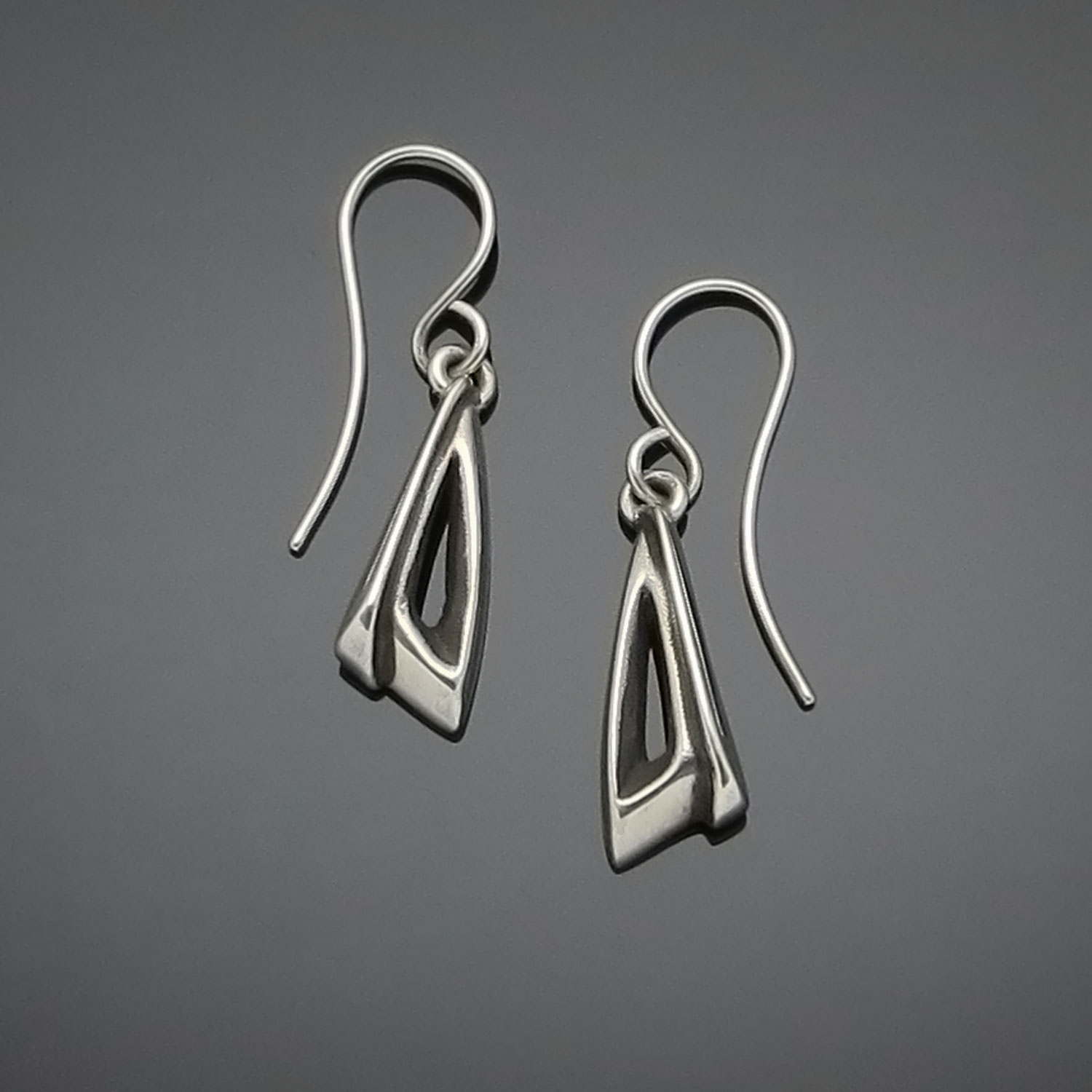 #112 Hooded Triangle earring