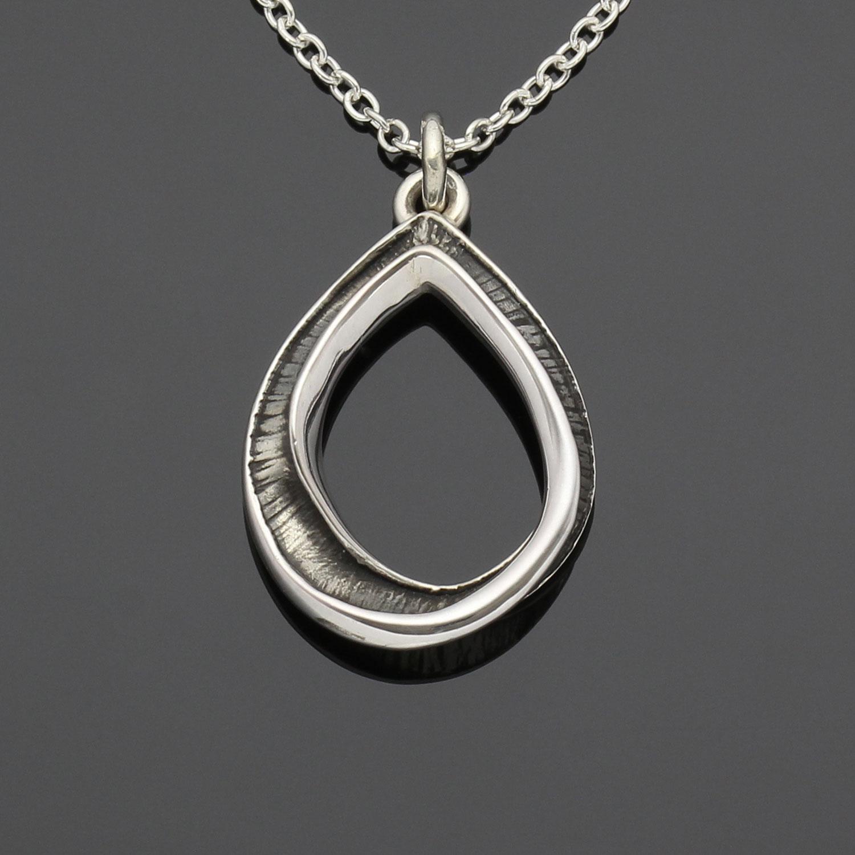 #159 Mobius Pear pendant