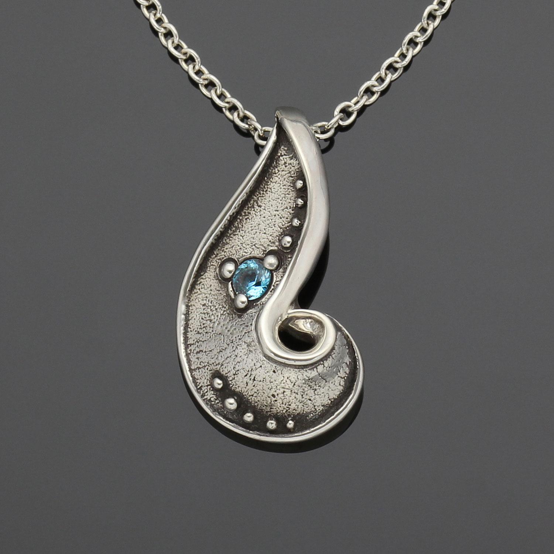 #155 Paisley S pendant