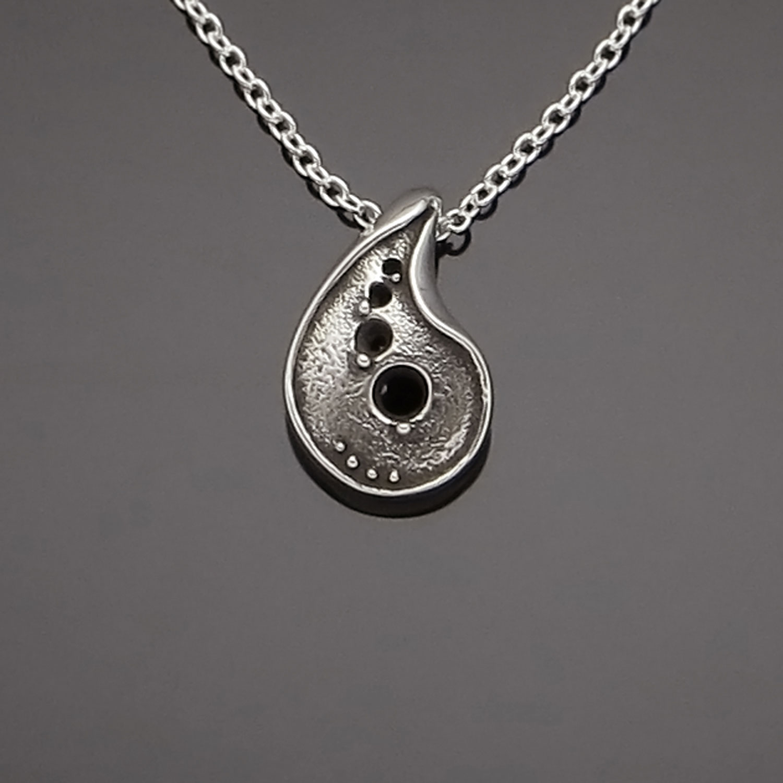 #168 Paisley Bean pendant