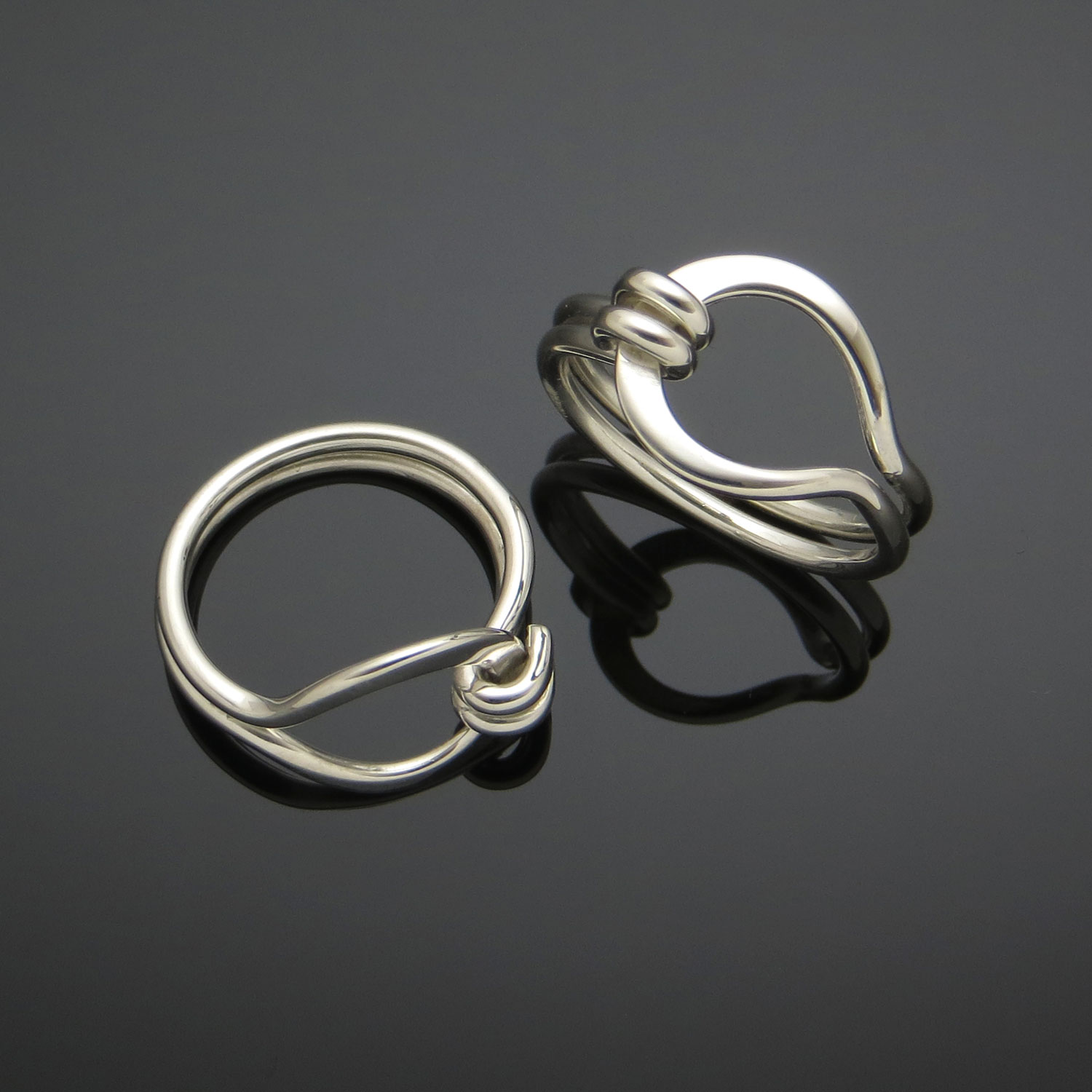 Ring P, $45/person, 2 hrs  Sterling silver Pear Ring