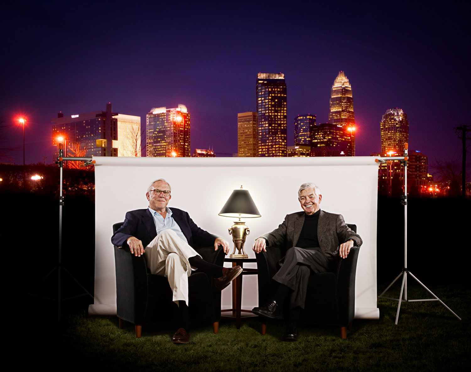 Ed Crutchfield and Hugh McColl, Jr. (2006), CEOs of First Union Bank and Bank of America, retired