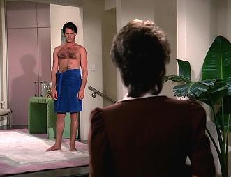 Gratuitous shot of Adam in a towel