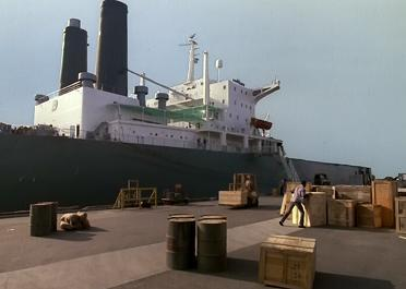If it wasn't for those barrel sitting there, I never would have known that was an oil tanker