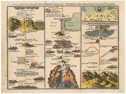 John Bunyan, The Road From the City of Destruction to the Celestial City 1821 Cornell CUL