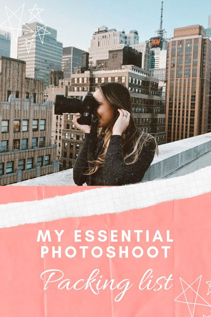 My Essential Photoshoot Packing List