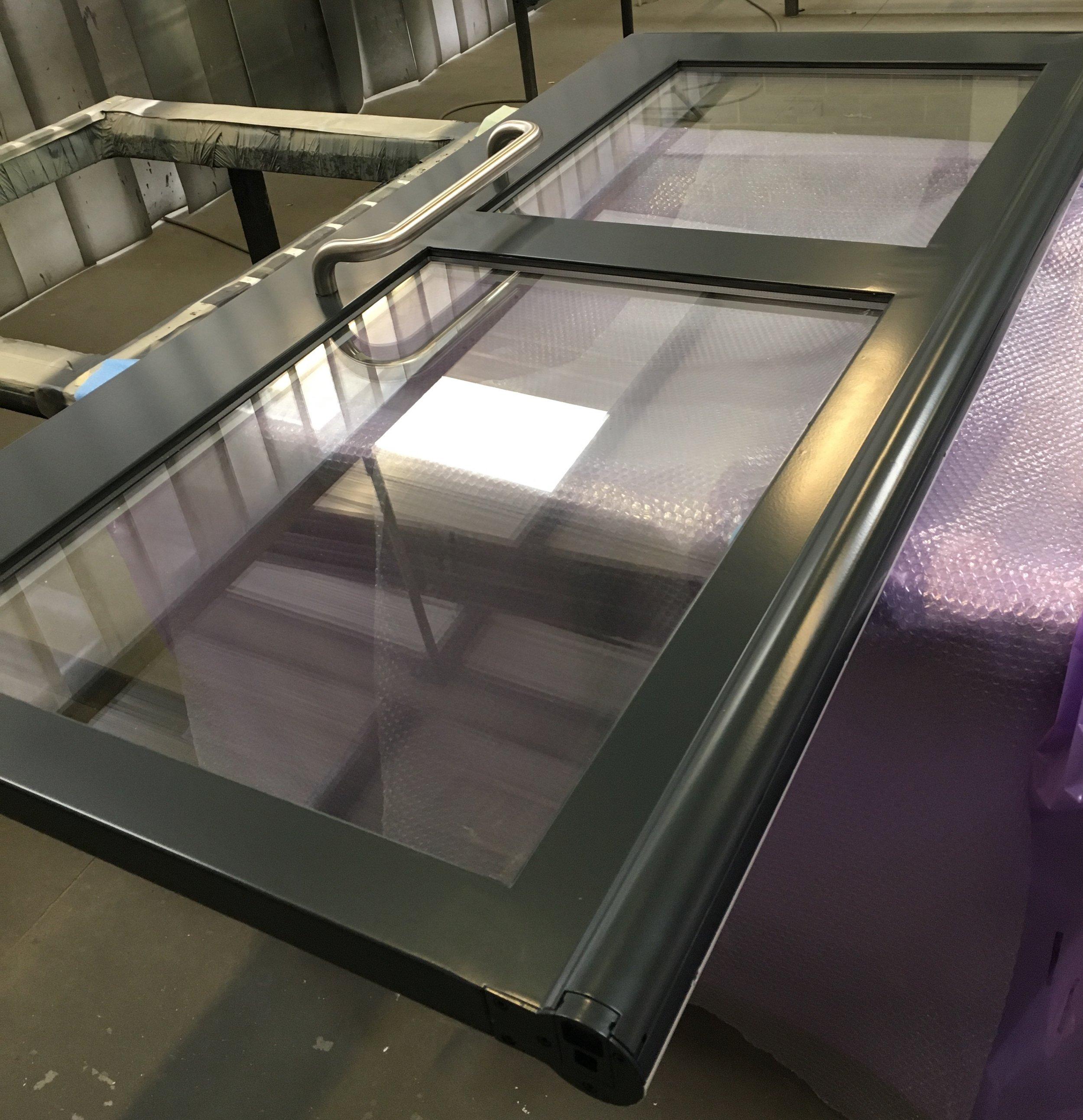Steel Door - One Side Grey (7016)