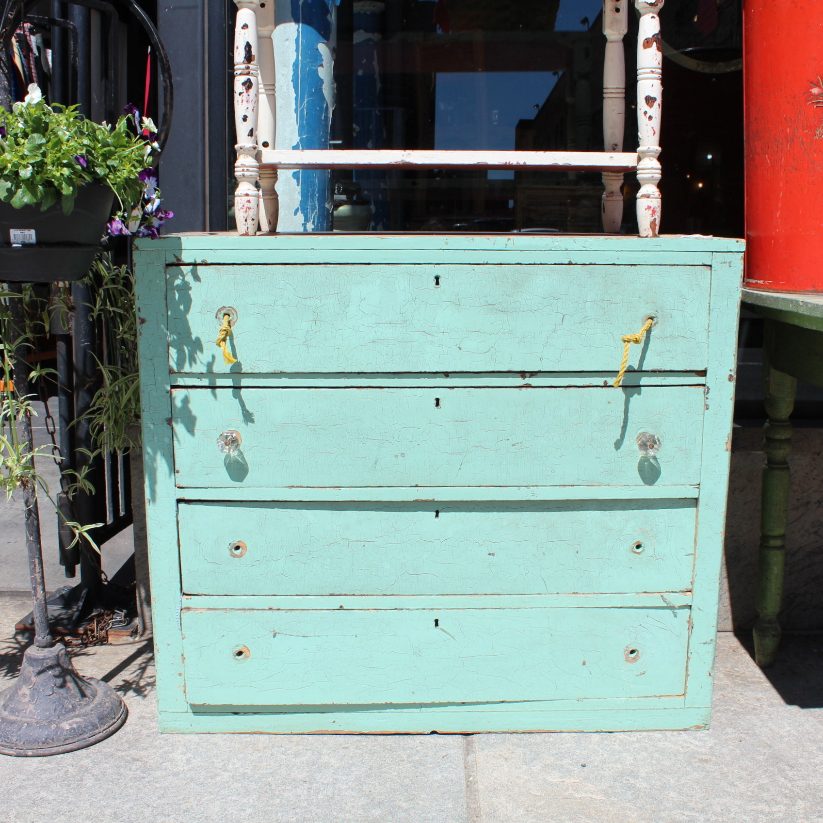 New Teal Chest of Drawers