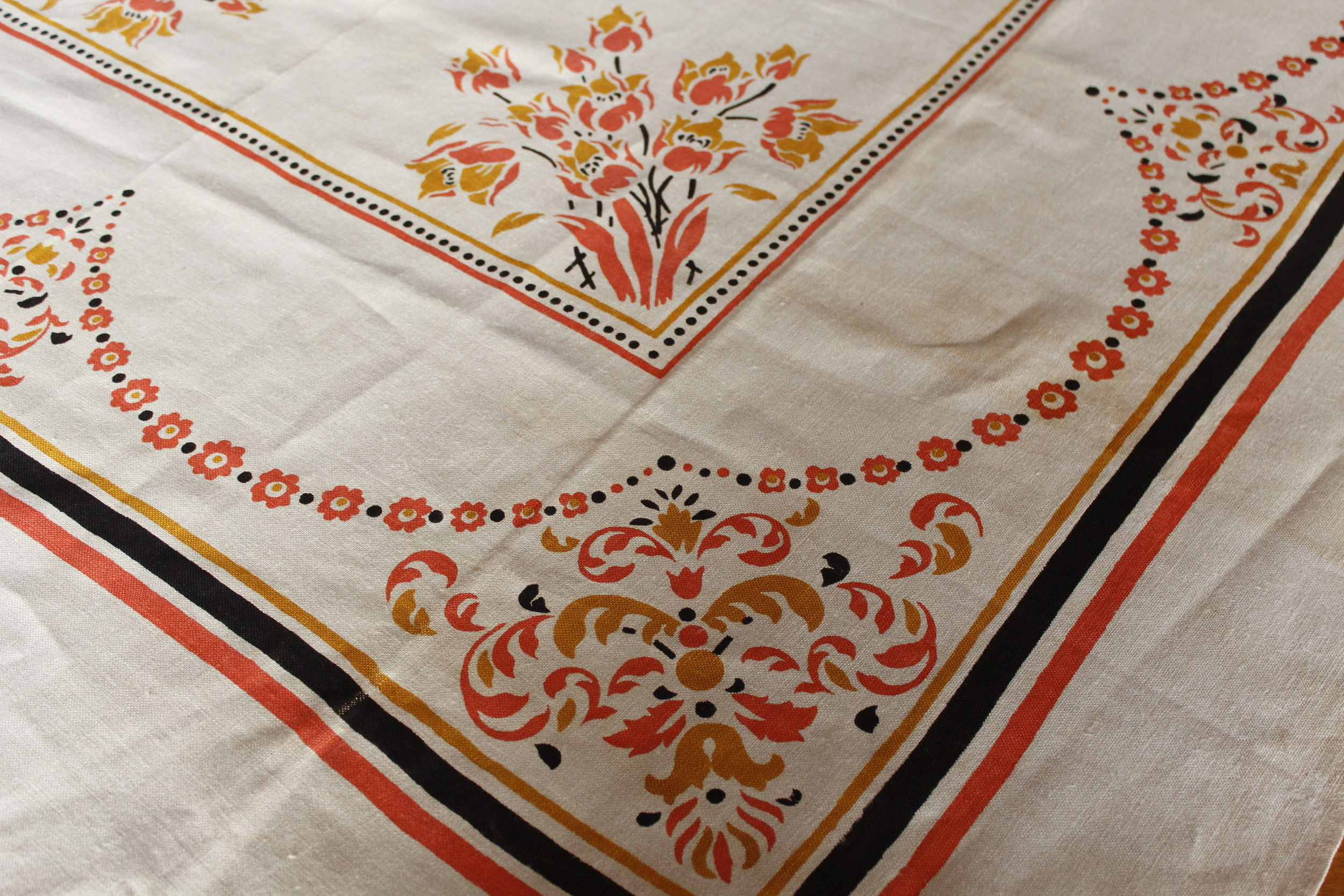 Vintage Printed Tablecloth