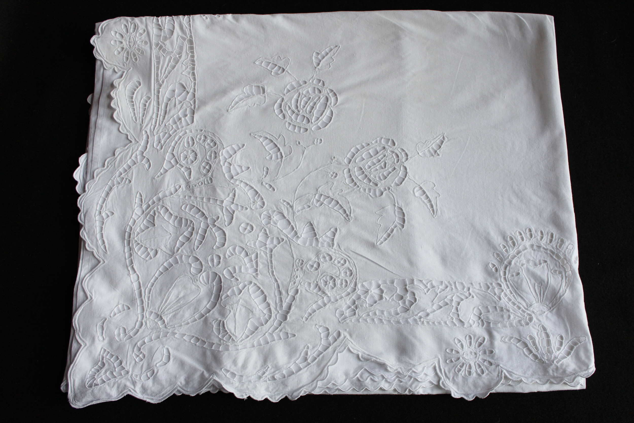 Vintage Embroidered Sheet