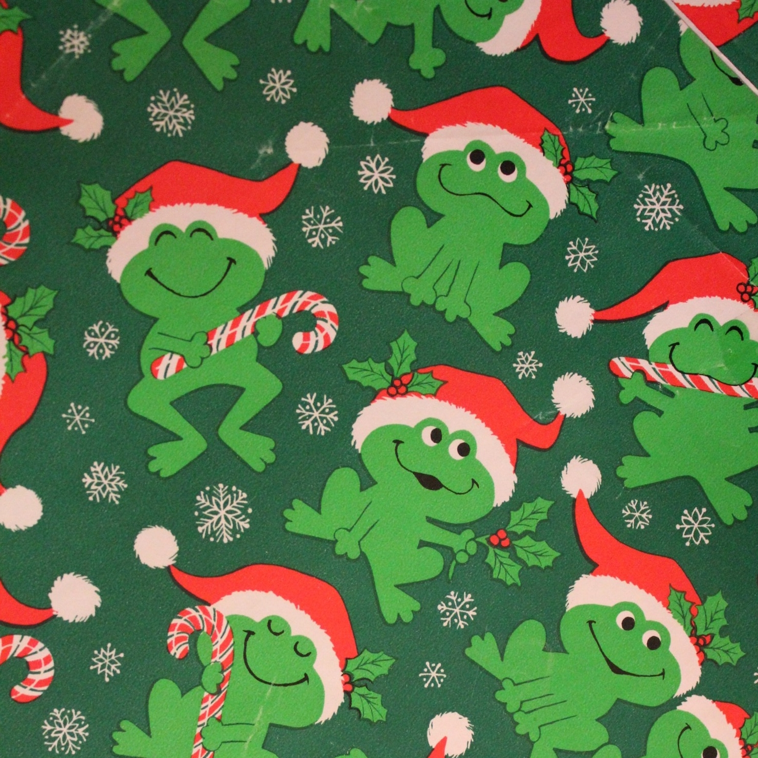 Christmas Frog Wrapping Paper