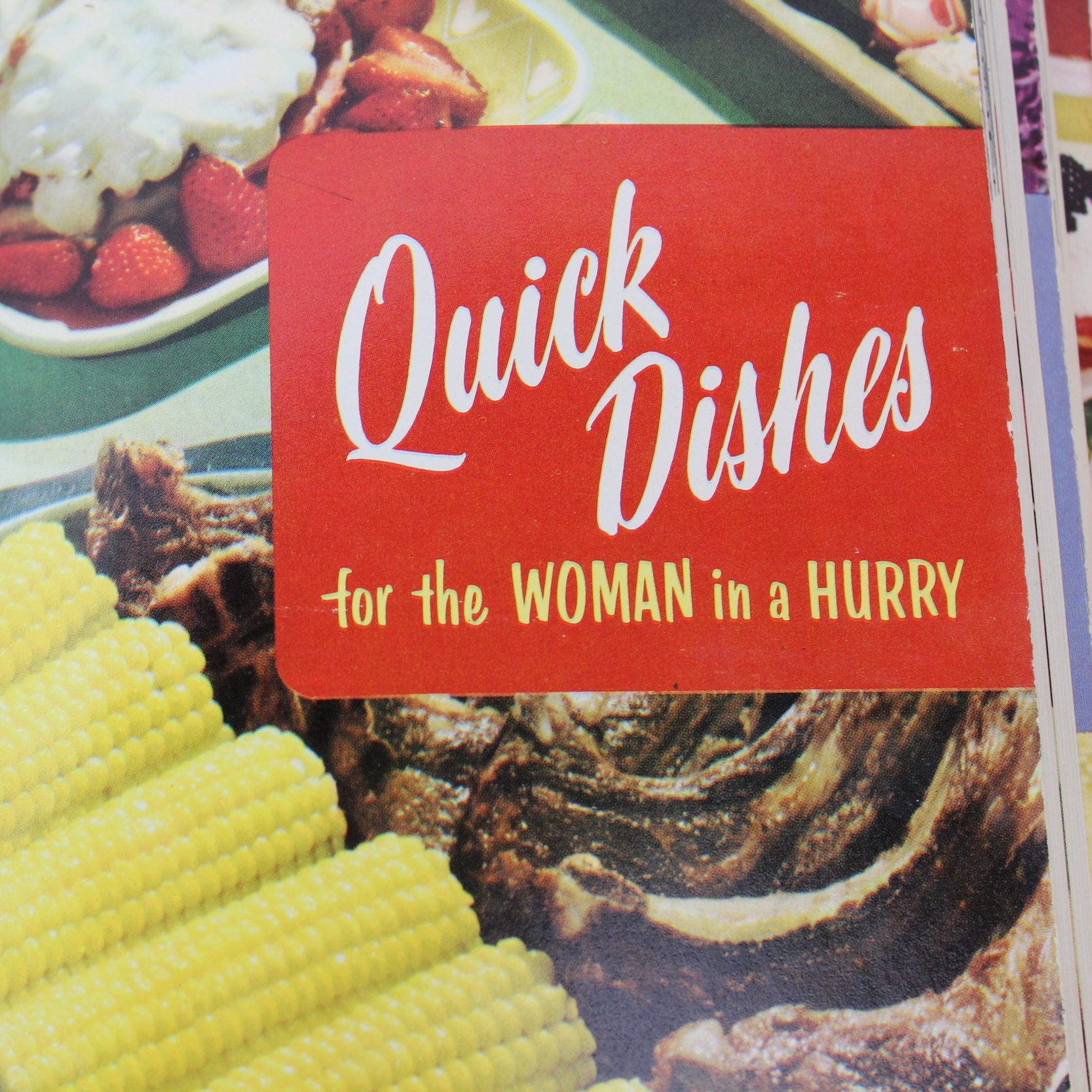 Quick Dishes vintage cookbook