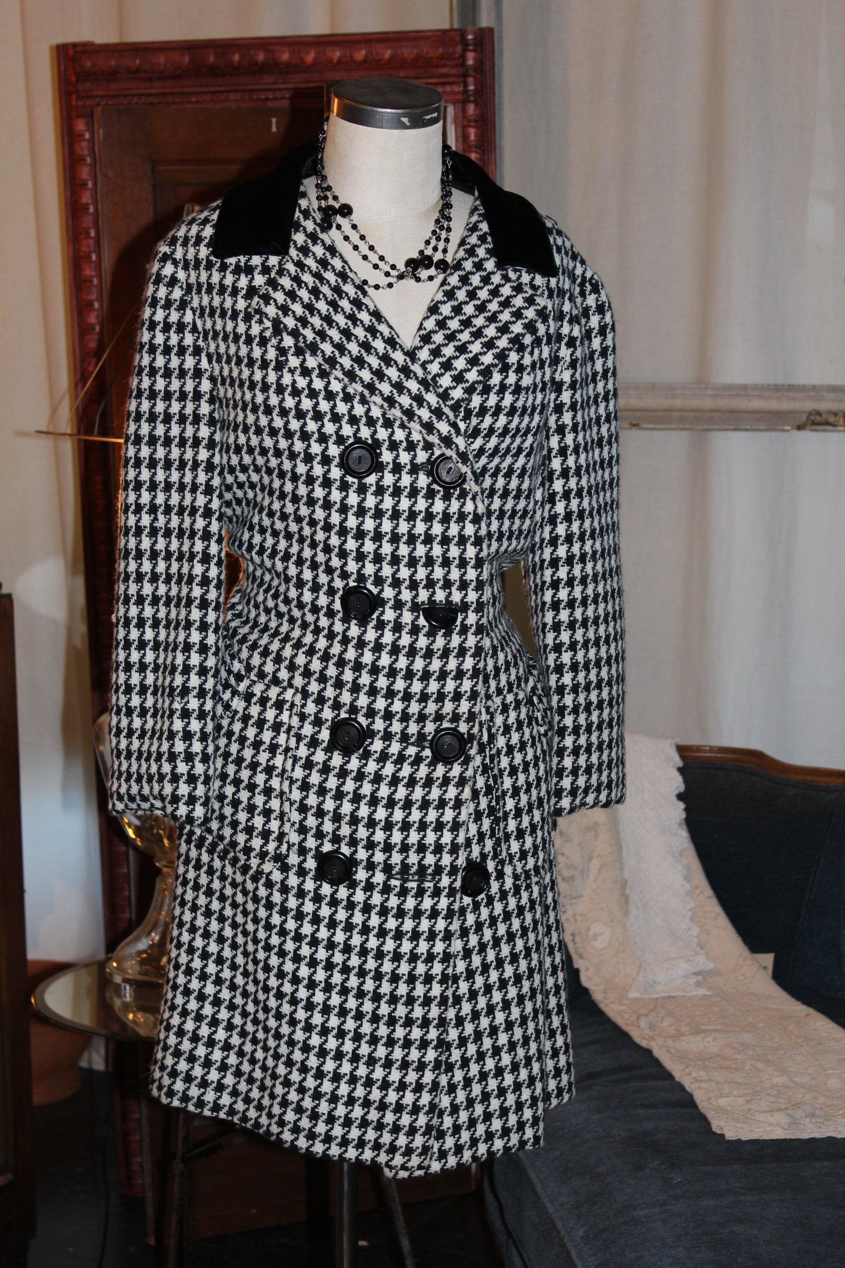 Lord & Taylor Houndstooth Coat