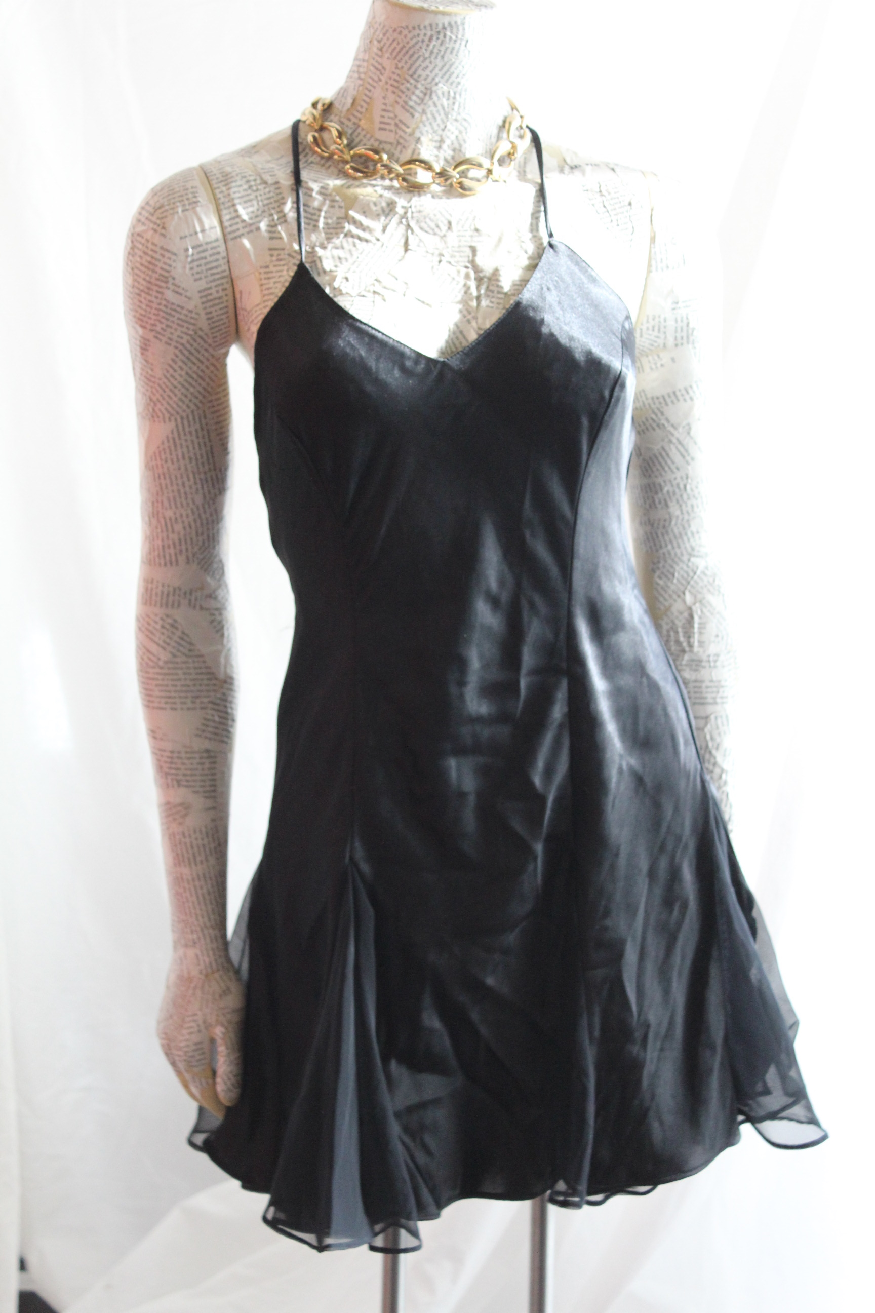 Black Silk Nightie