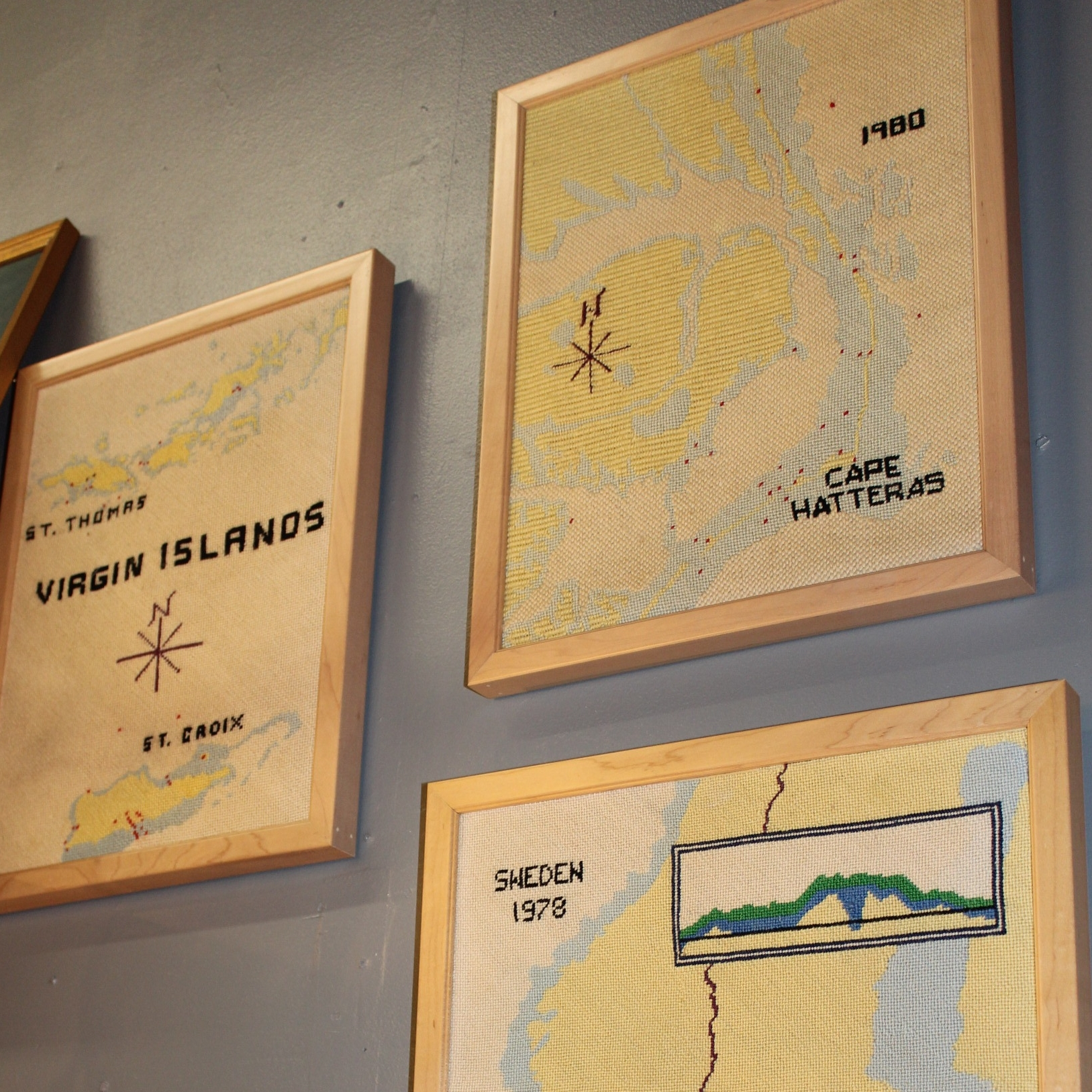 Needlepoint Nautical Maps