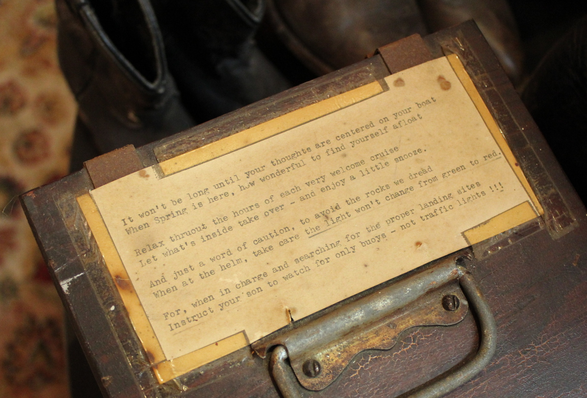 Wooden Box with Nautical Poem