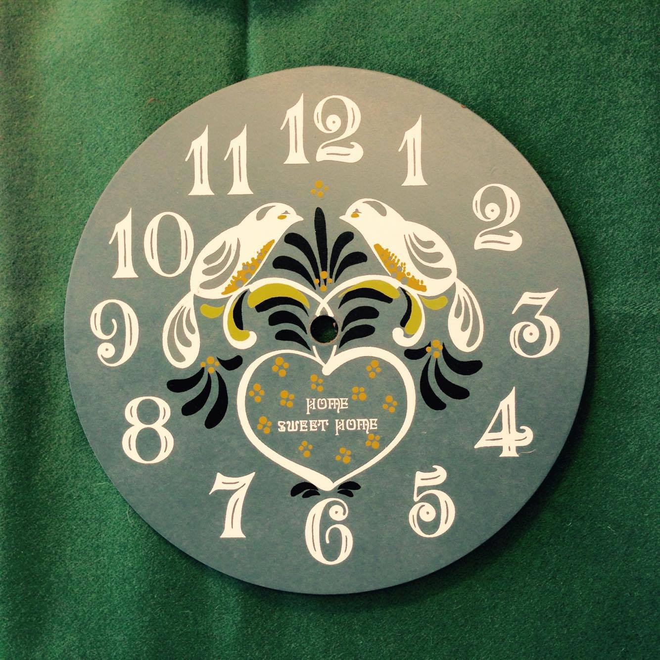 Lovebirds Clock Face