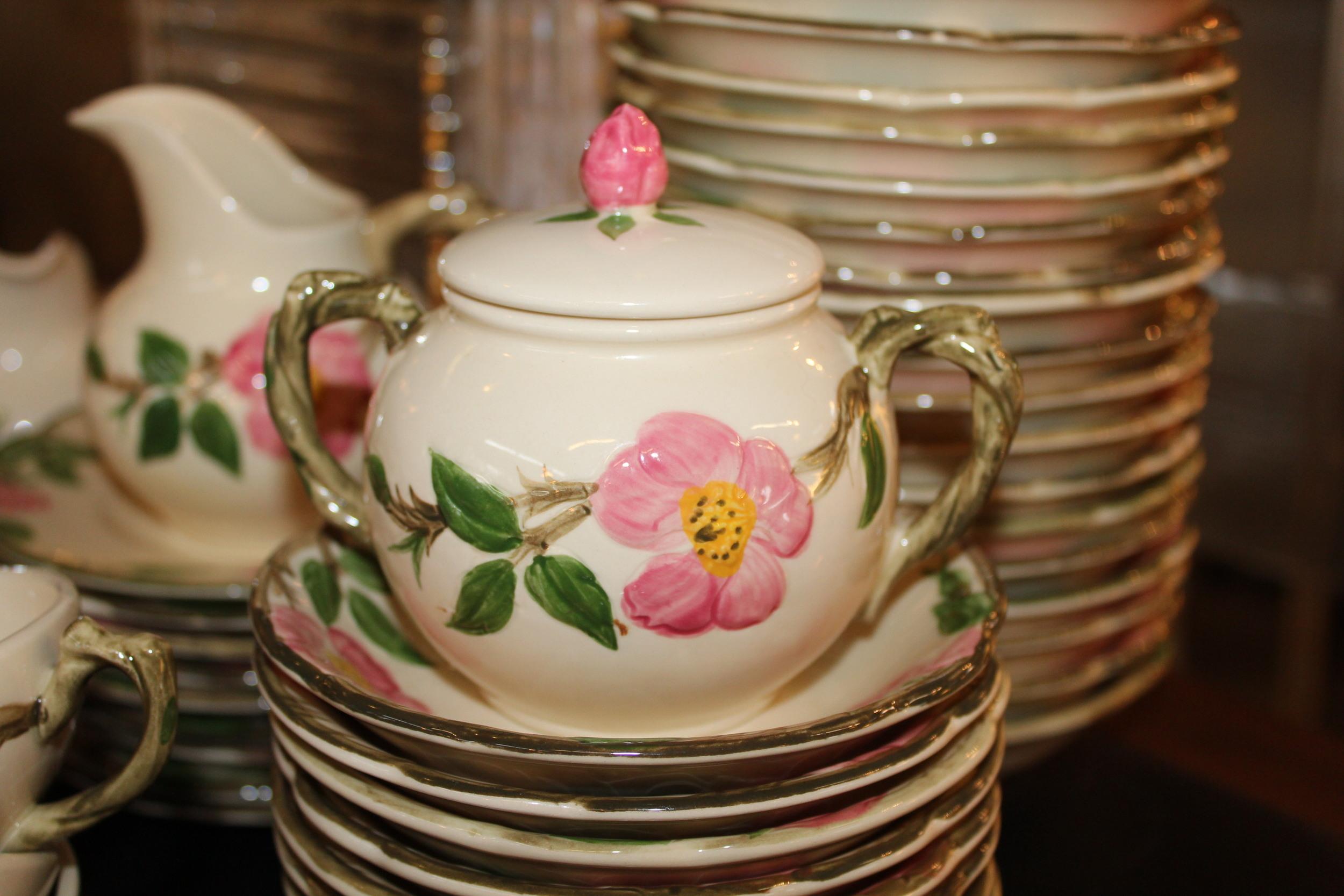 Desert Rose Sugar Bowls