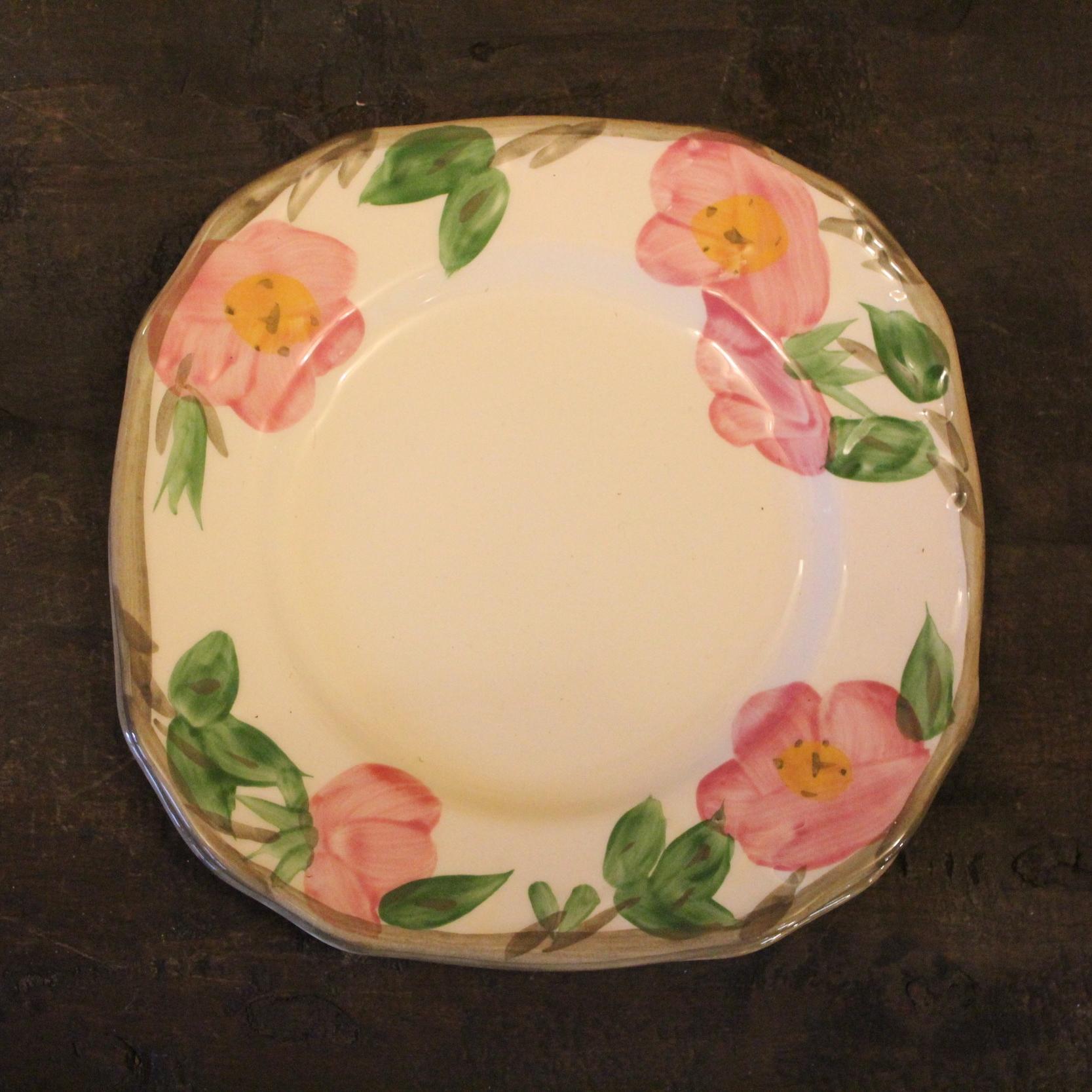 Desert Rose Square Lunch Plates