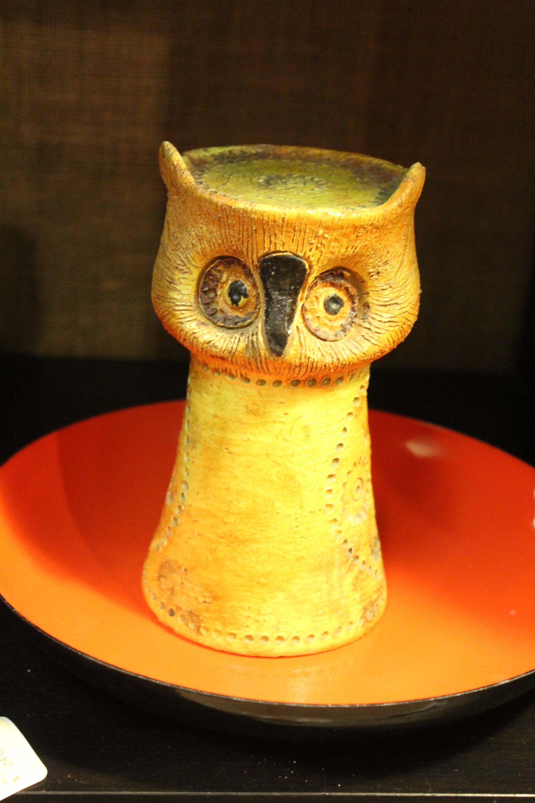 mid century owl candle holder