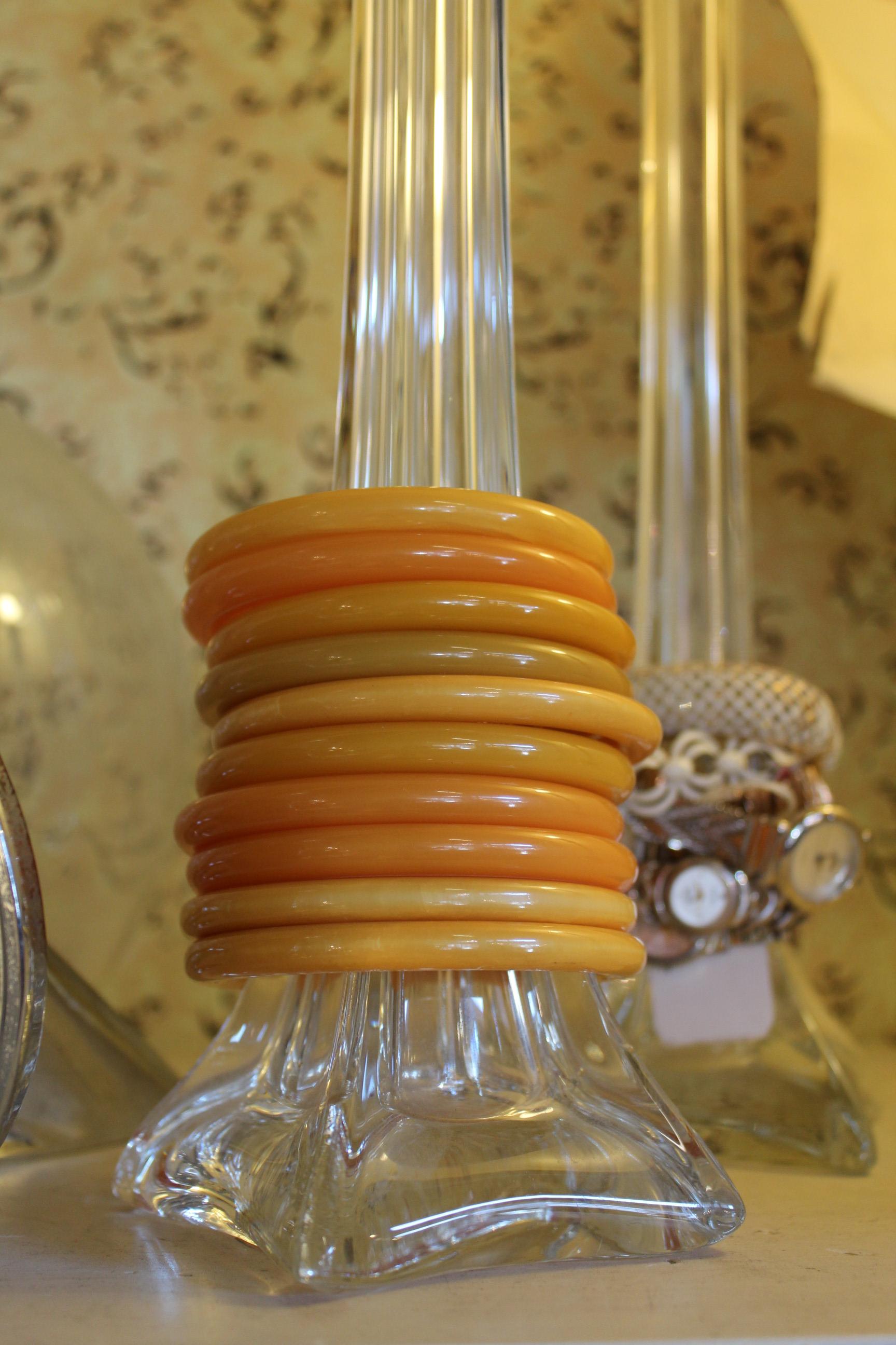 amber bakelite bracelets