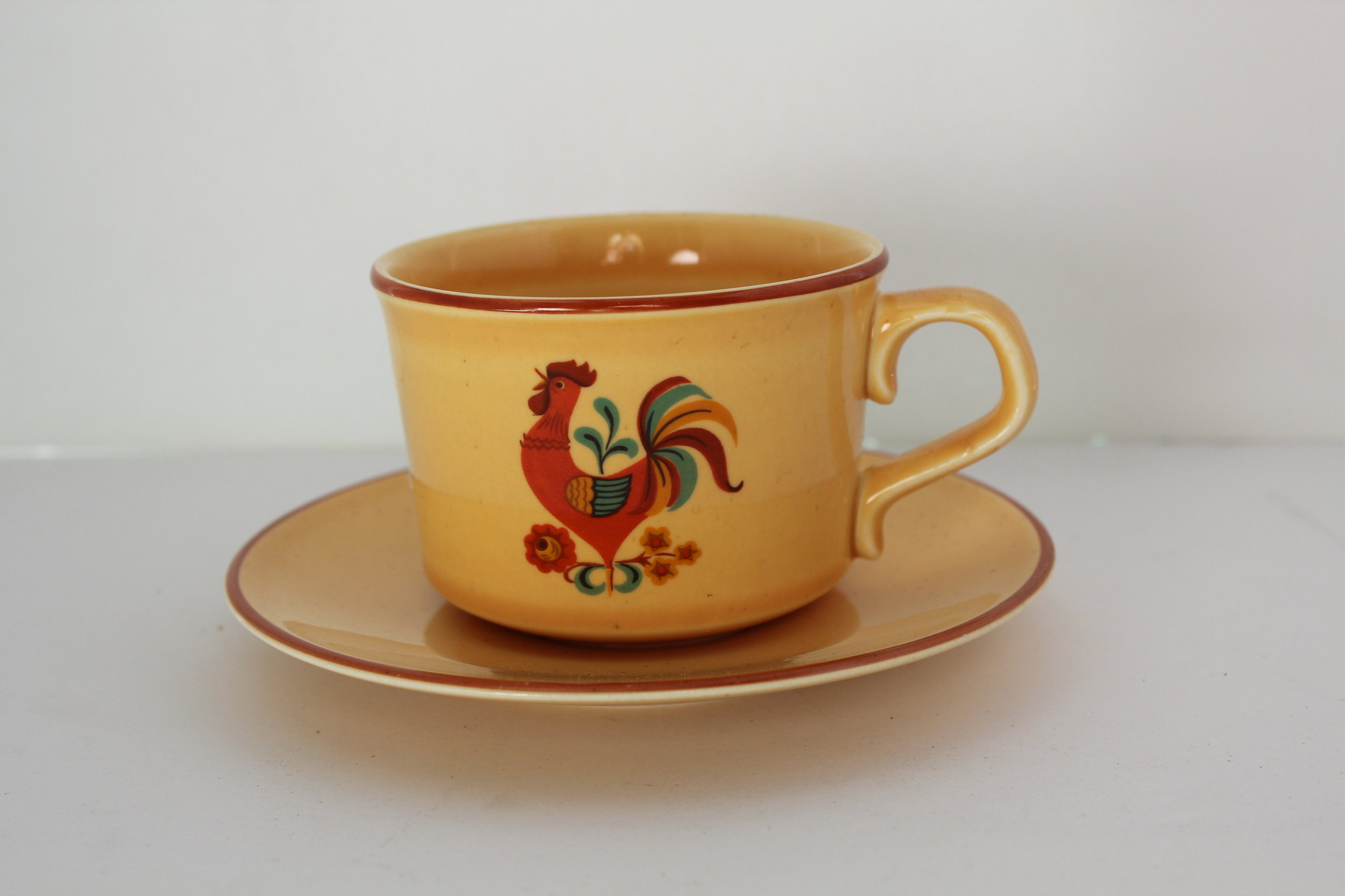 rooster cup and saucer