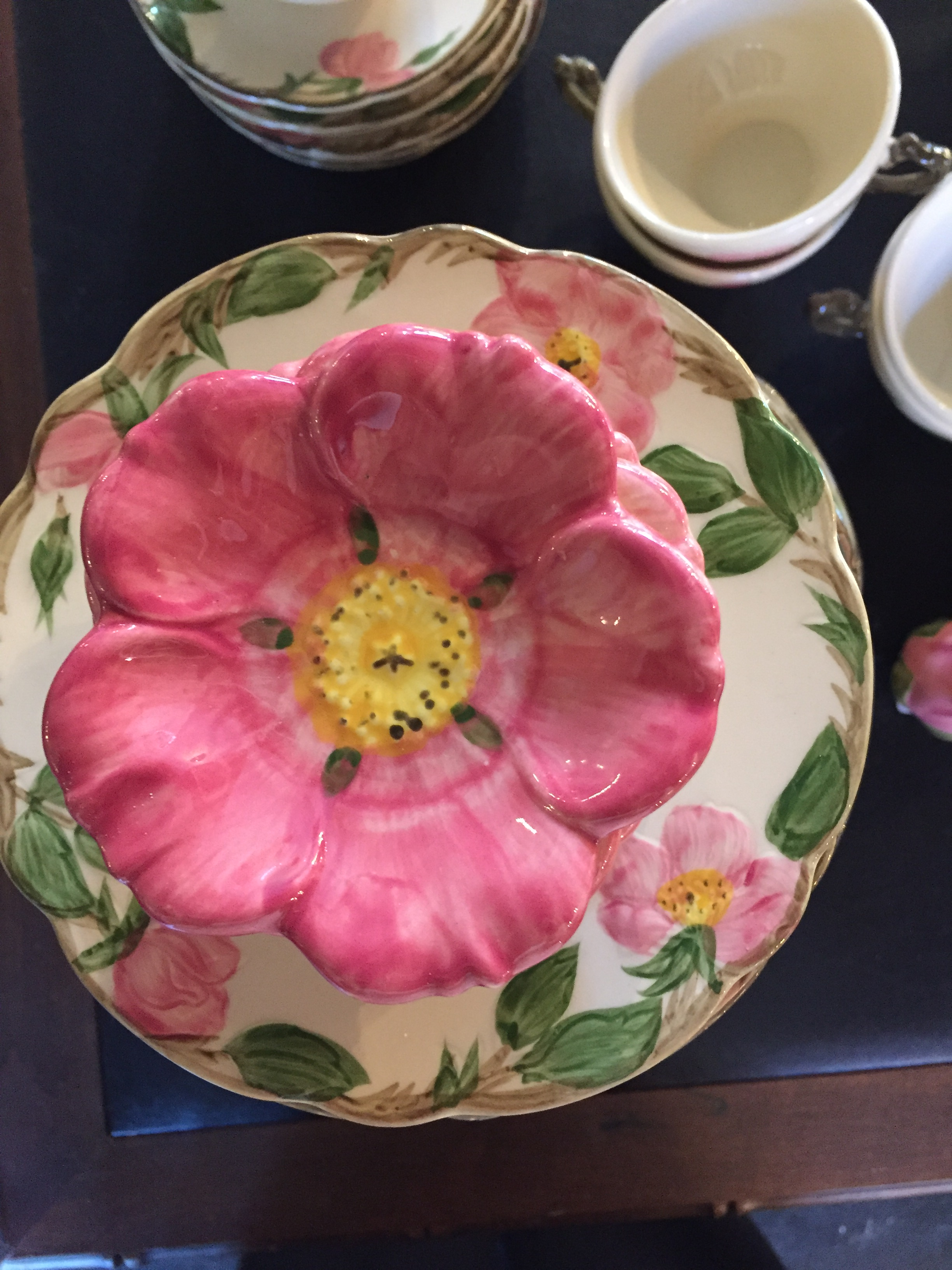 Franciscan Desert Rose butter pat rose and plates
