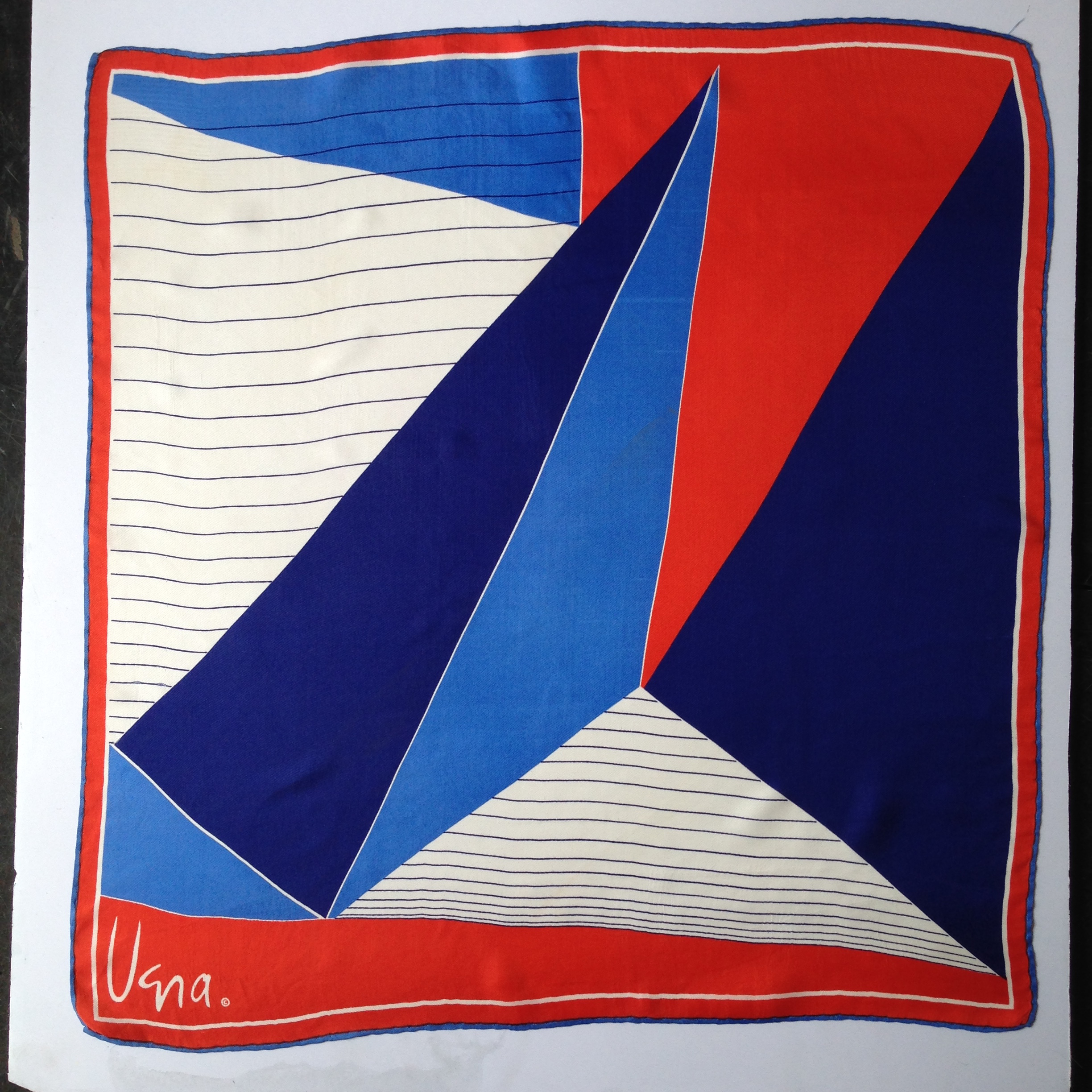 Red White & Blue Nautical Vintage Vera Scarf