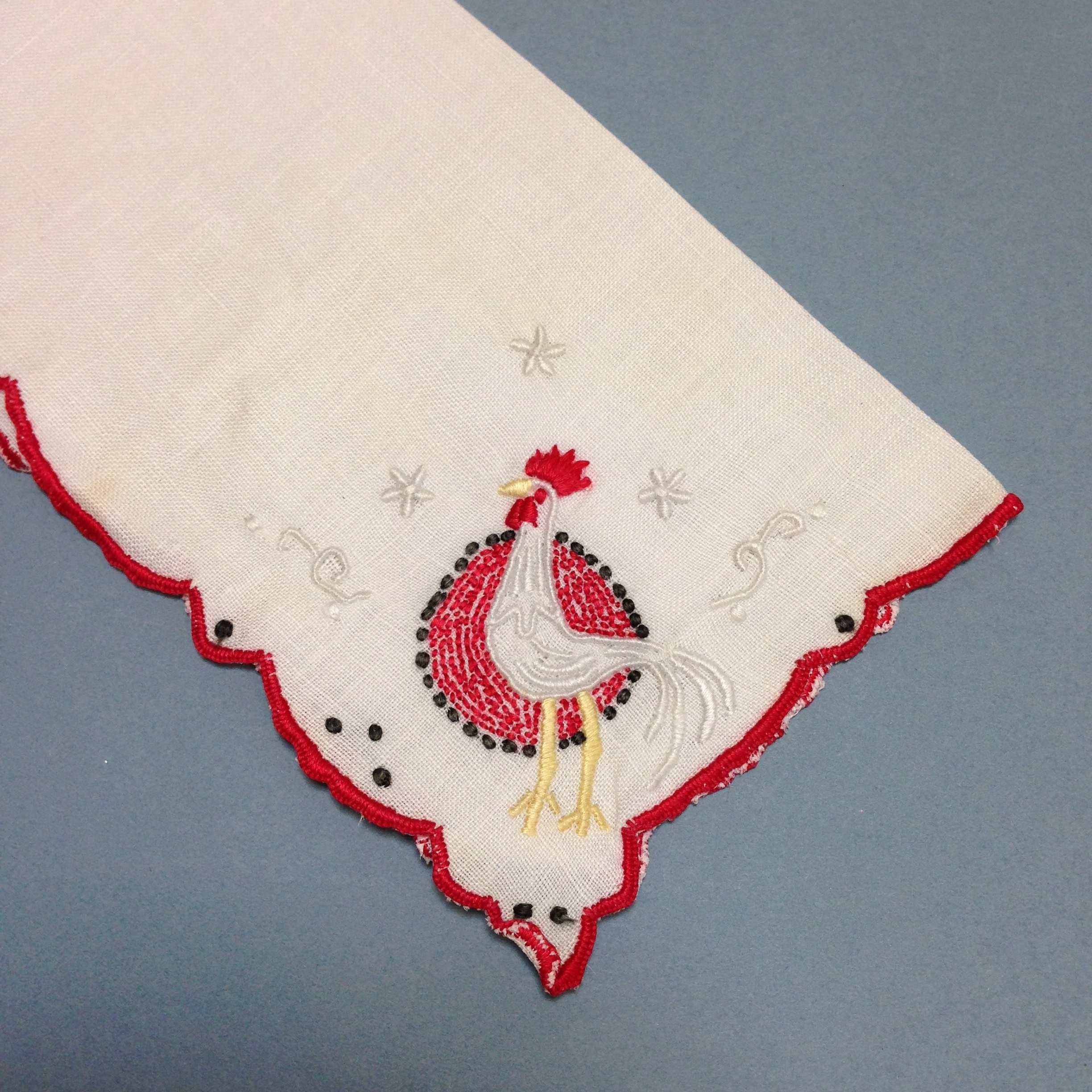 Red rooster hanky