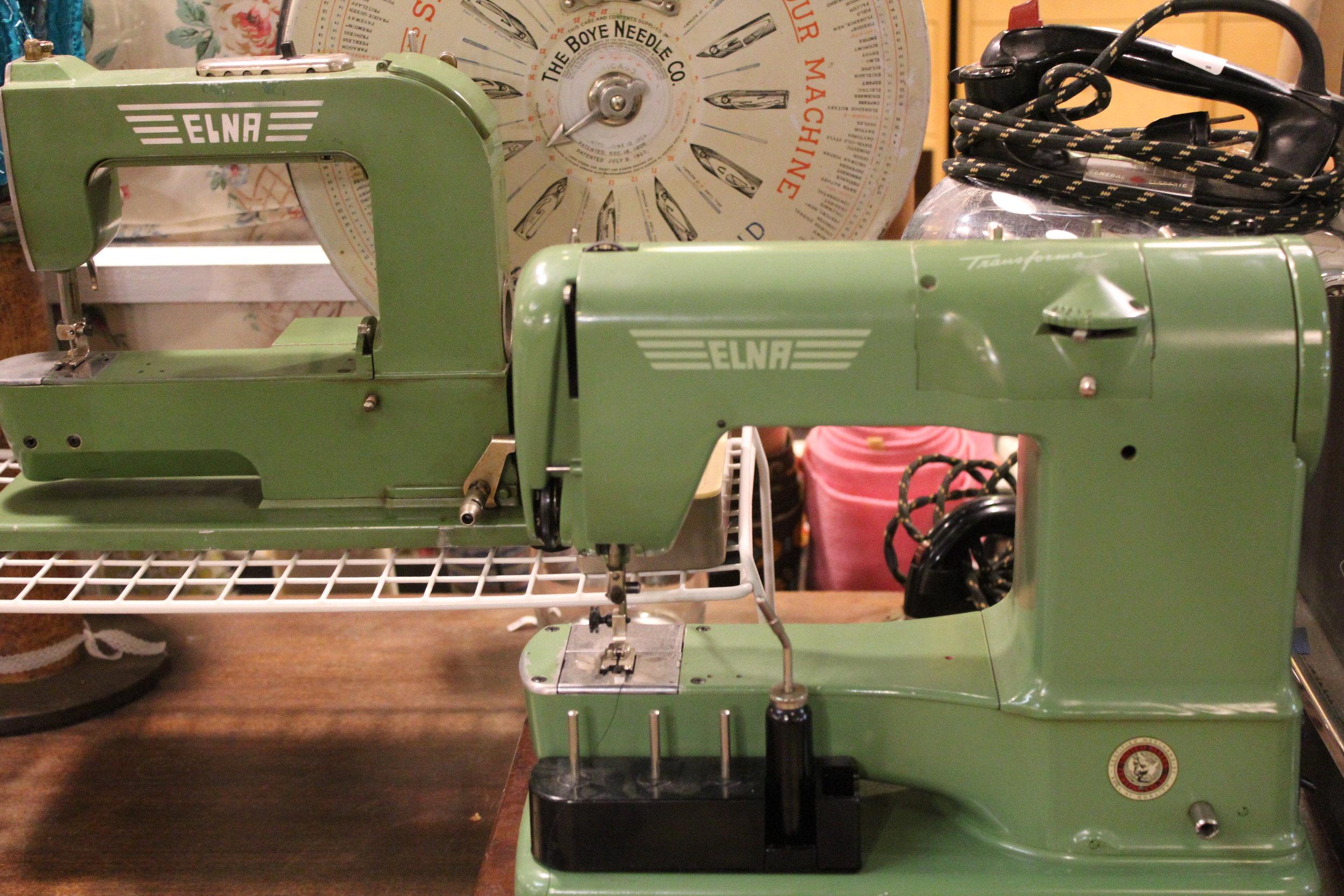 Vintage Elna Grasshopper Sewing Machines