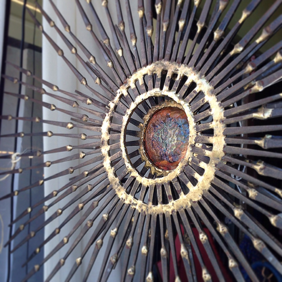 Metal Sunburst Sculpture