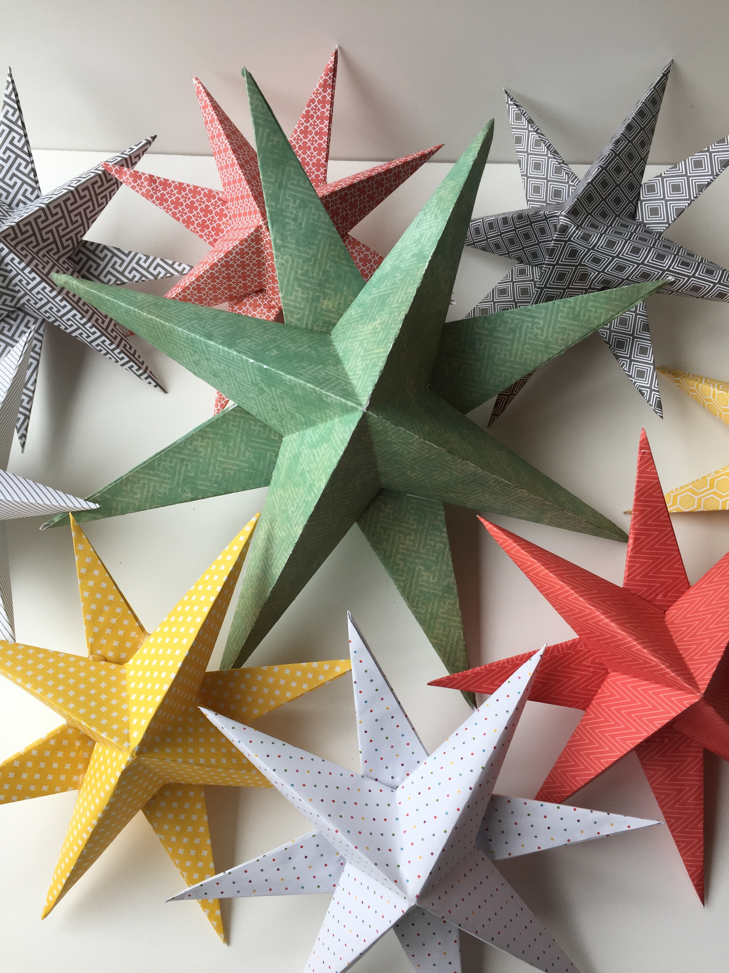 Paper Stars - Holiday decorations. We will make colorful 3 dimensional stars. You will go home with several sizes of stars and the knowledge to make many more at home. You will be amazed at how simple these are.Cost - $20 per person