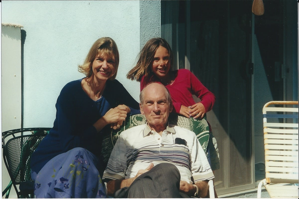 With my dad and my daughter, Kendall, just two weeks before he died in May 2000.