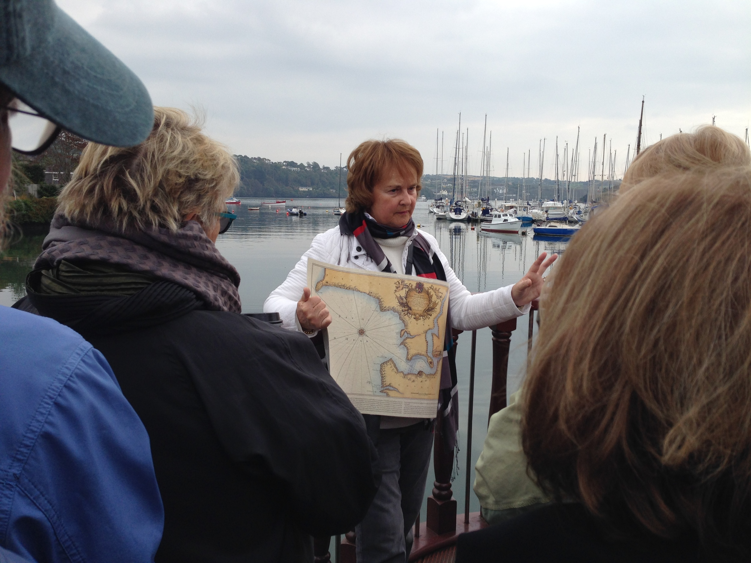 Our walking tour guide gave us a brief rundown on the rich history of this seaside town.