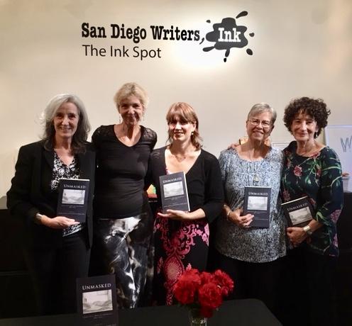 Unmasked  contributors, from left,Renata Golden, editor Marcia Meier, Tania Pryputniewicz, Lisa Rizzo, and Barbara Rockman.