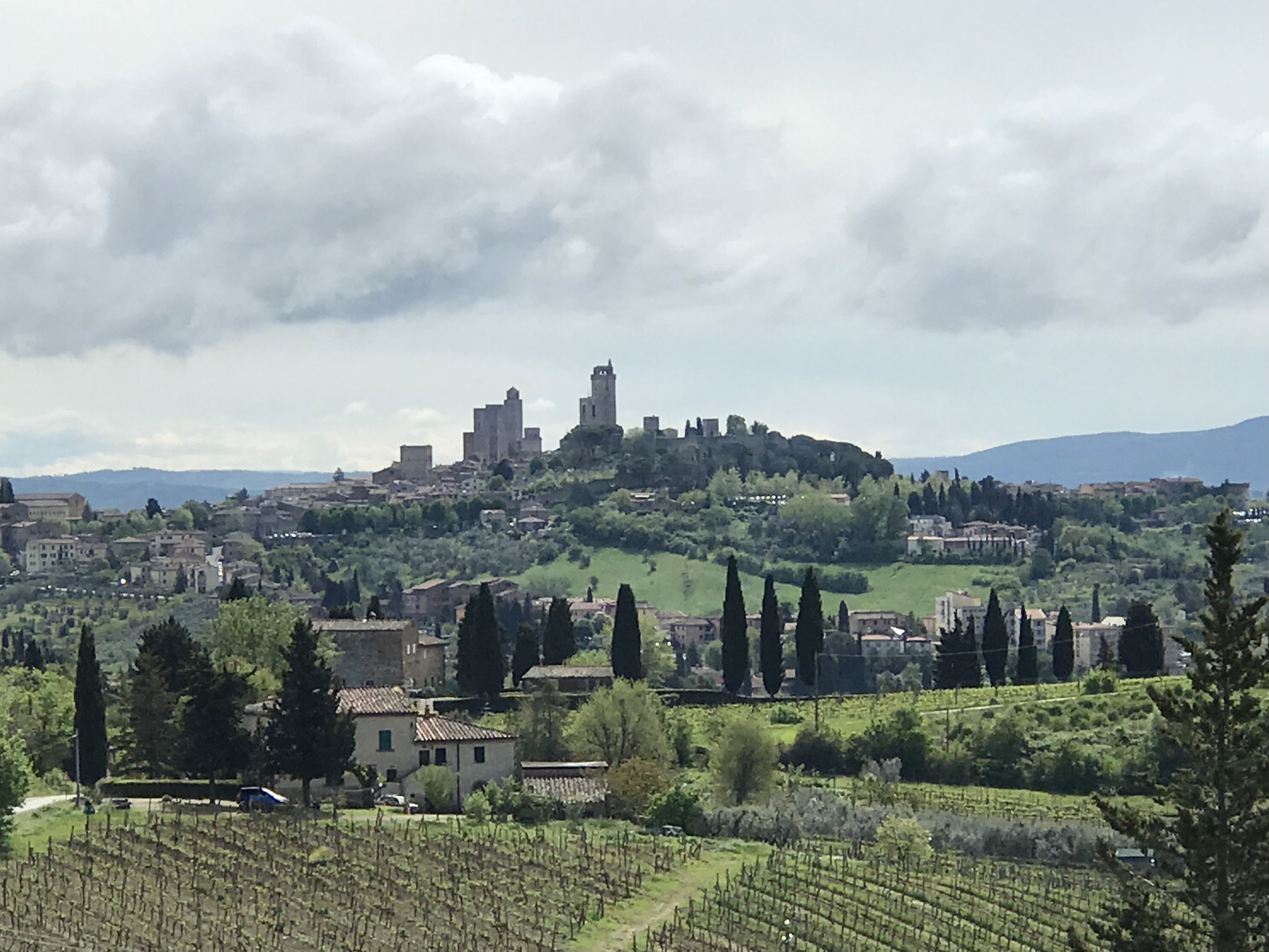 San Gimignano, the Town of Fine Towers. A UNESCO World Heritage site, it boasted 84 towers at one time. Eighteen still exist.
