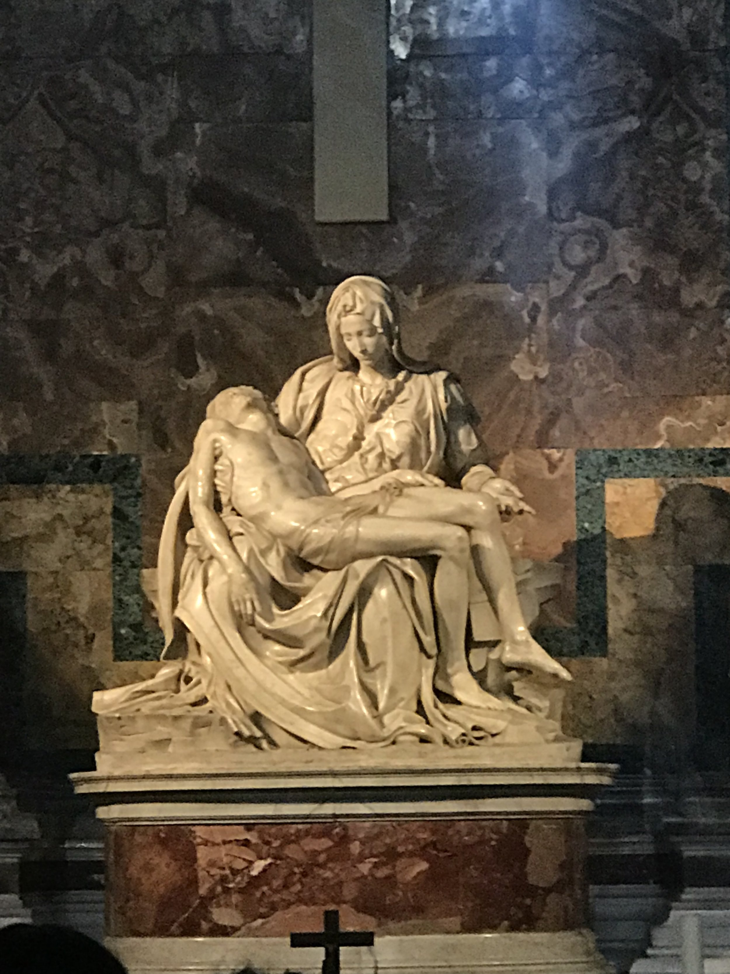 Michelangelo's Pieta at St. Peter's Basilica.