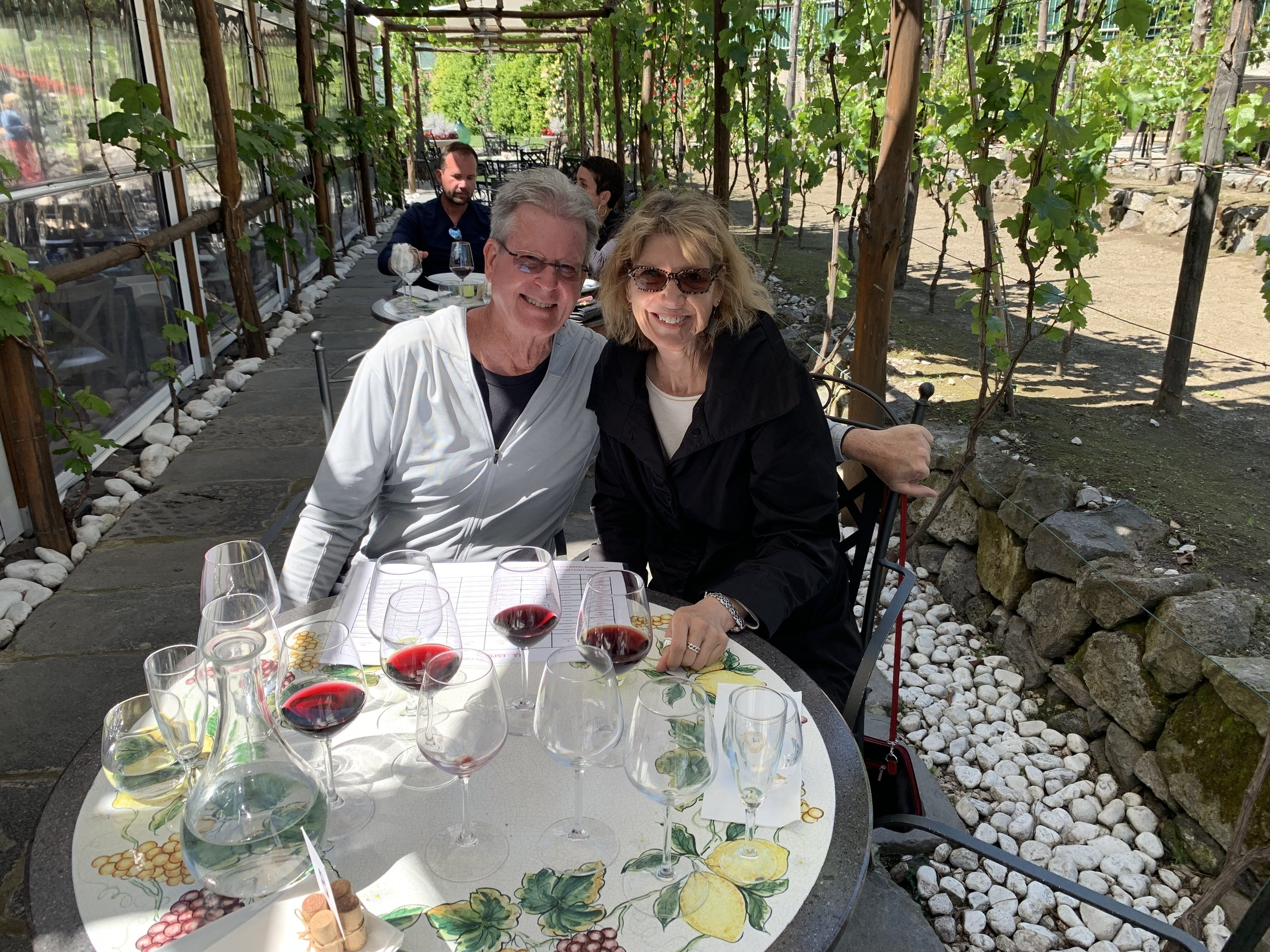 Lunch—and wine tasting—at the Bosco de Medici Winery in Pompeii.