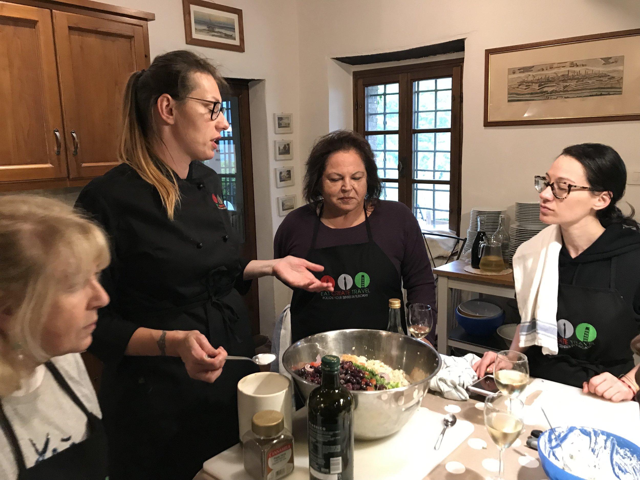 Cooking class with Karolina