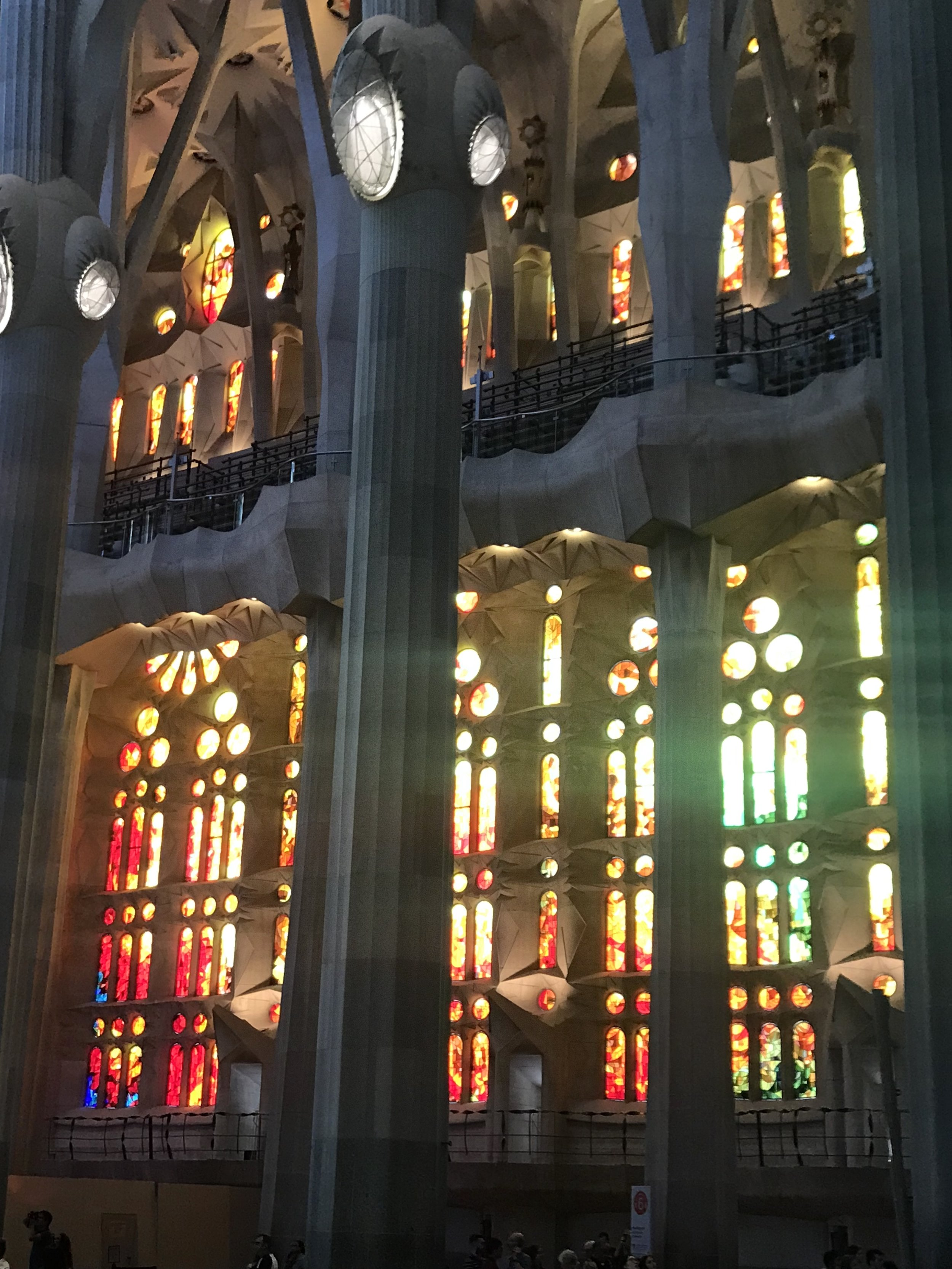 A photo of the stunning interior of Sagrada Familia, which doesn't come close to doing it justice