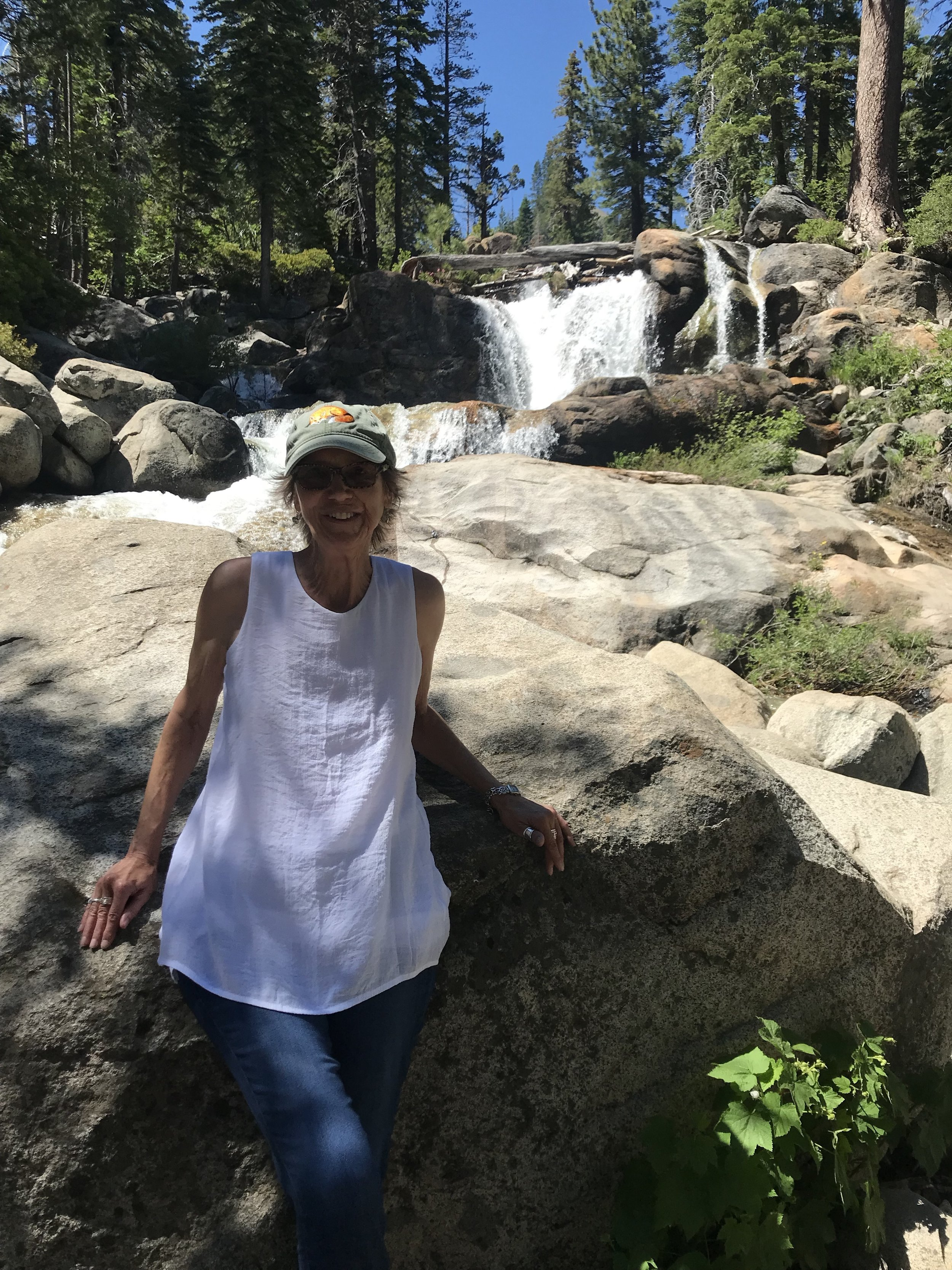 At the waterfalls above Squaw Valley