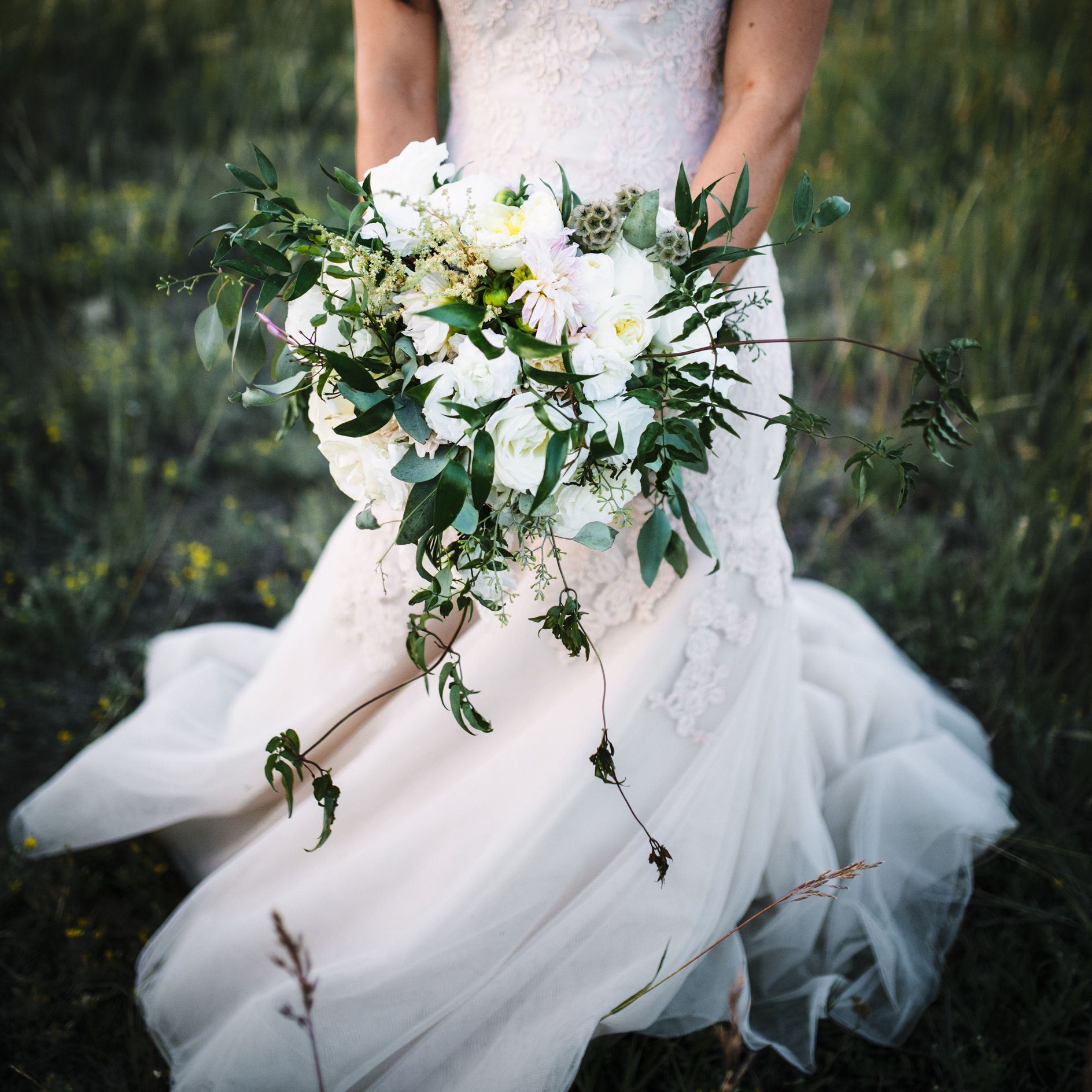Flowers by  Habitat Floral  Dress by  Liancarlo  from  Kinsley James Couture Bridal